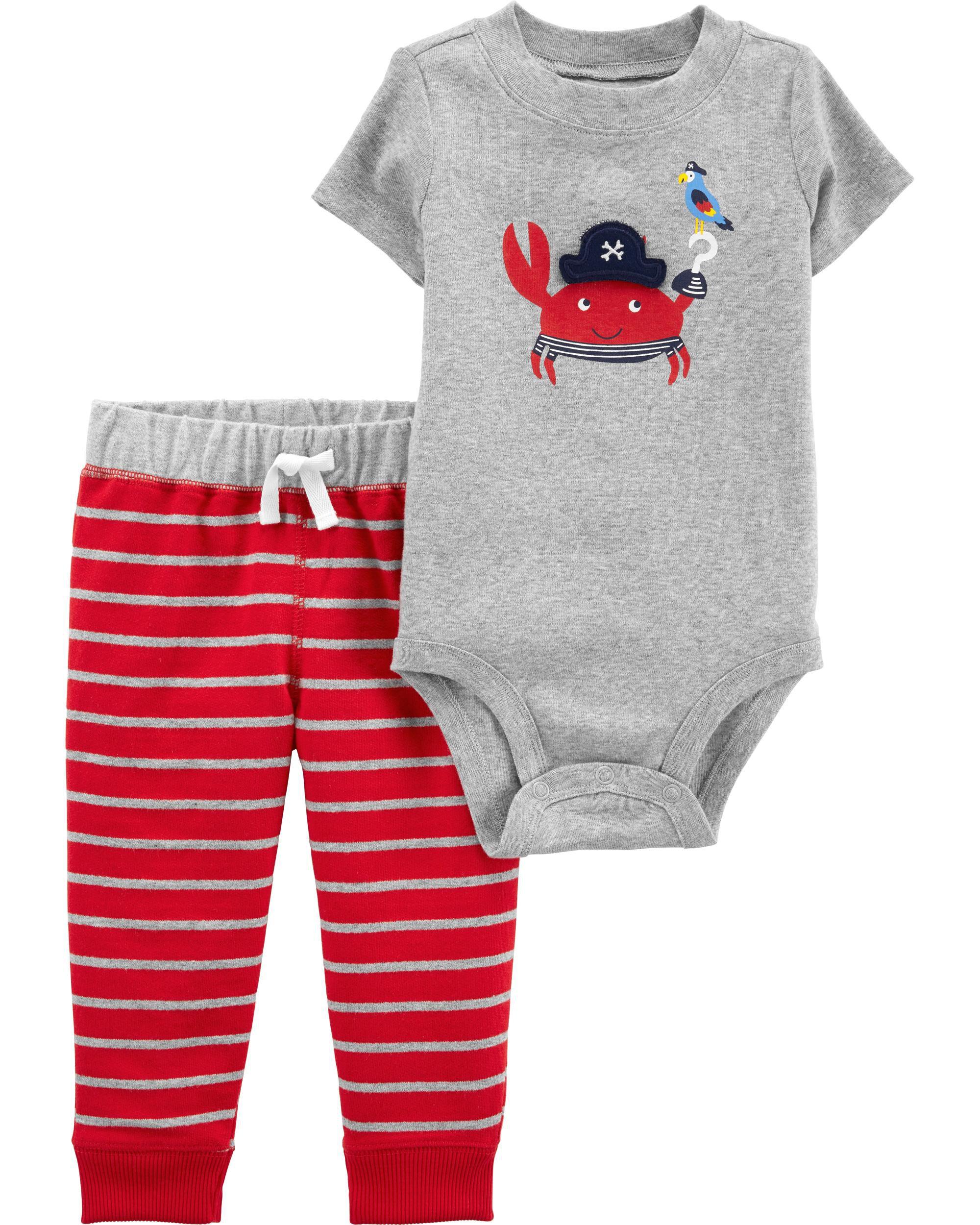 *Clearance*  2-Piece Crab Bodysuit Pant Set