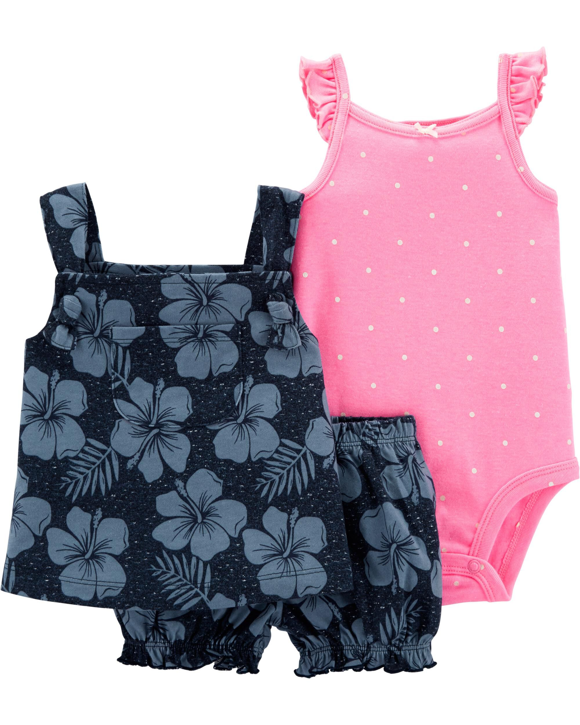 *Clearance*  3-Piece Floral Little Short Set