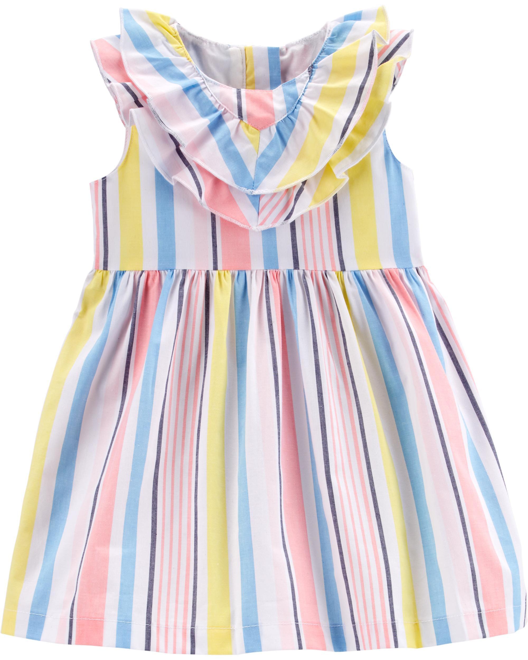 *Clearance*  Striped Poplin Dress