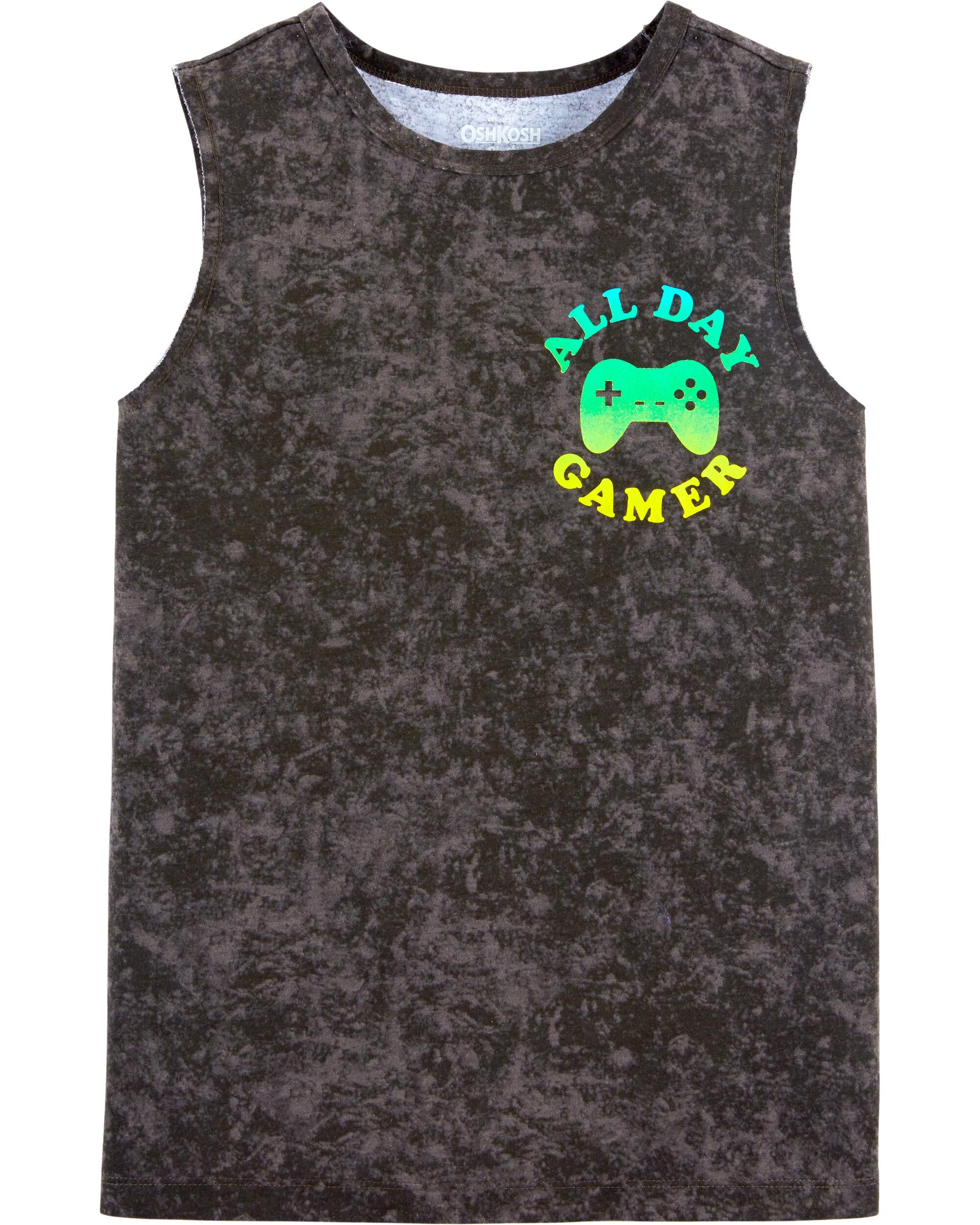*Clearance*  Gamer Cut-Off Muscle Tee