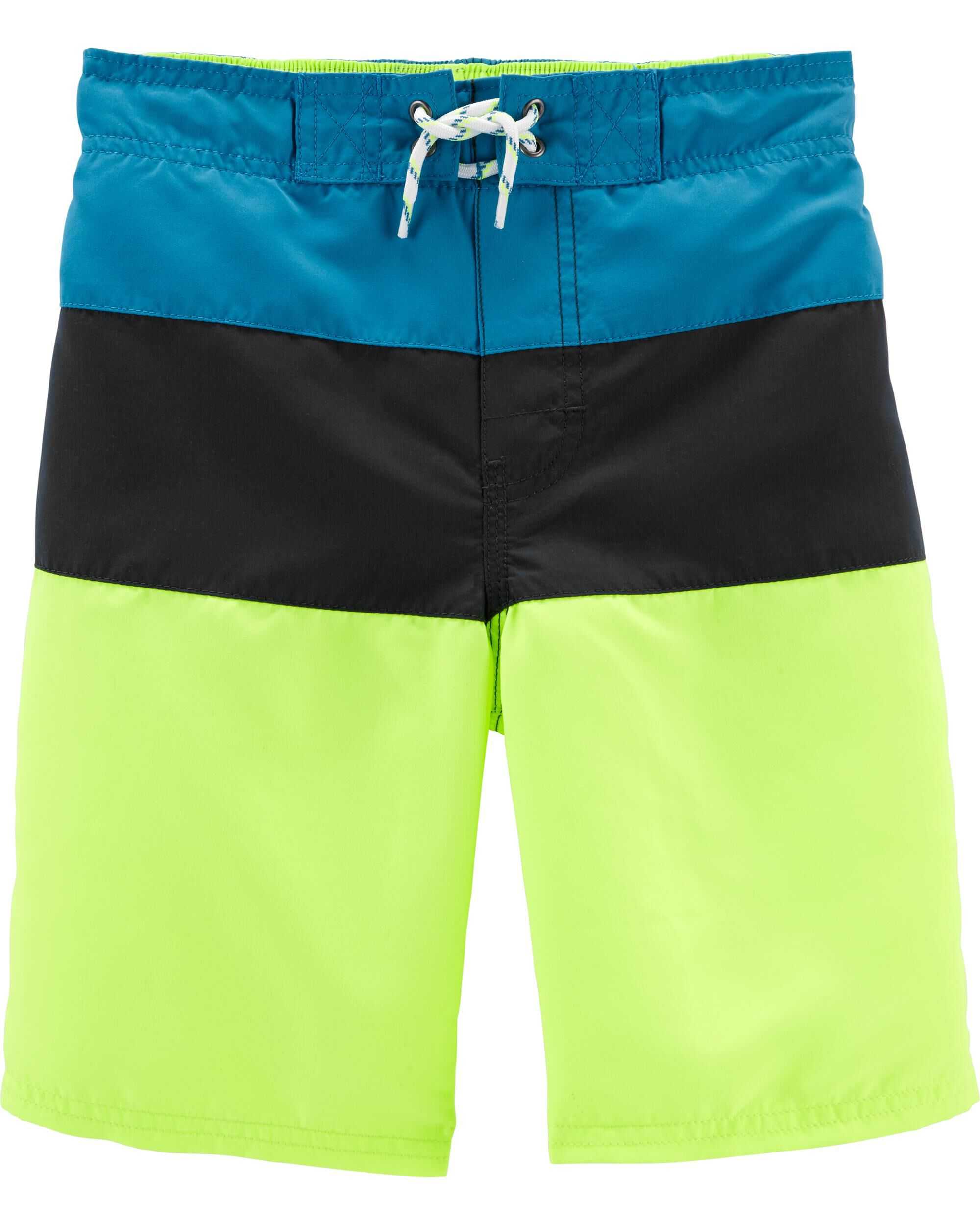 *Clearance*  OshKosh Colorblock Swim Trunks