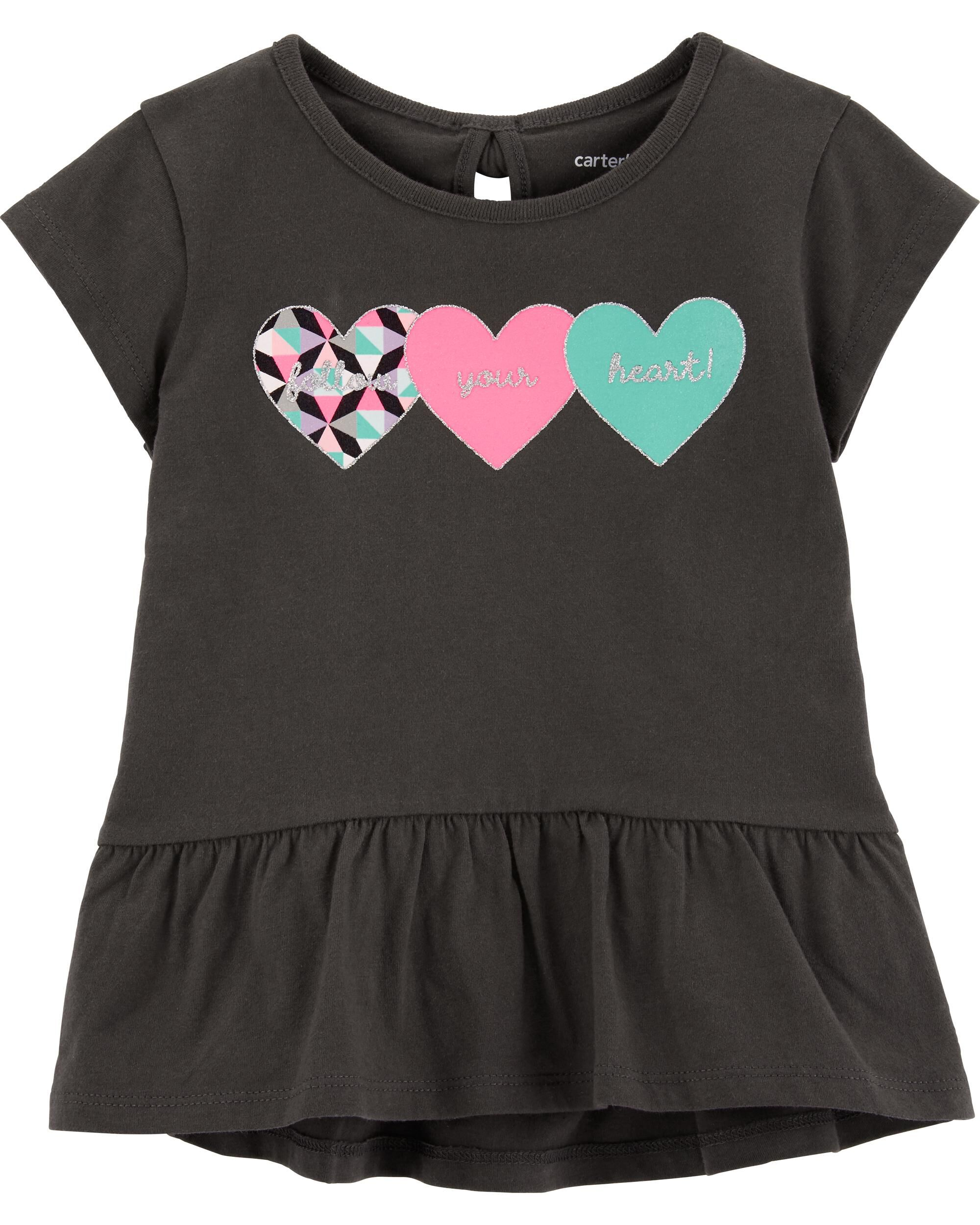 *Clearance*  Triple Heart Peplum Top