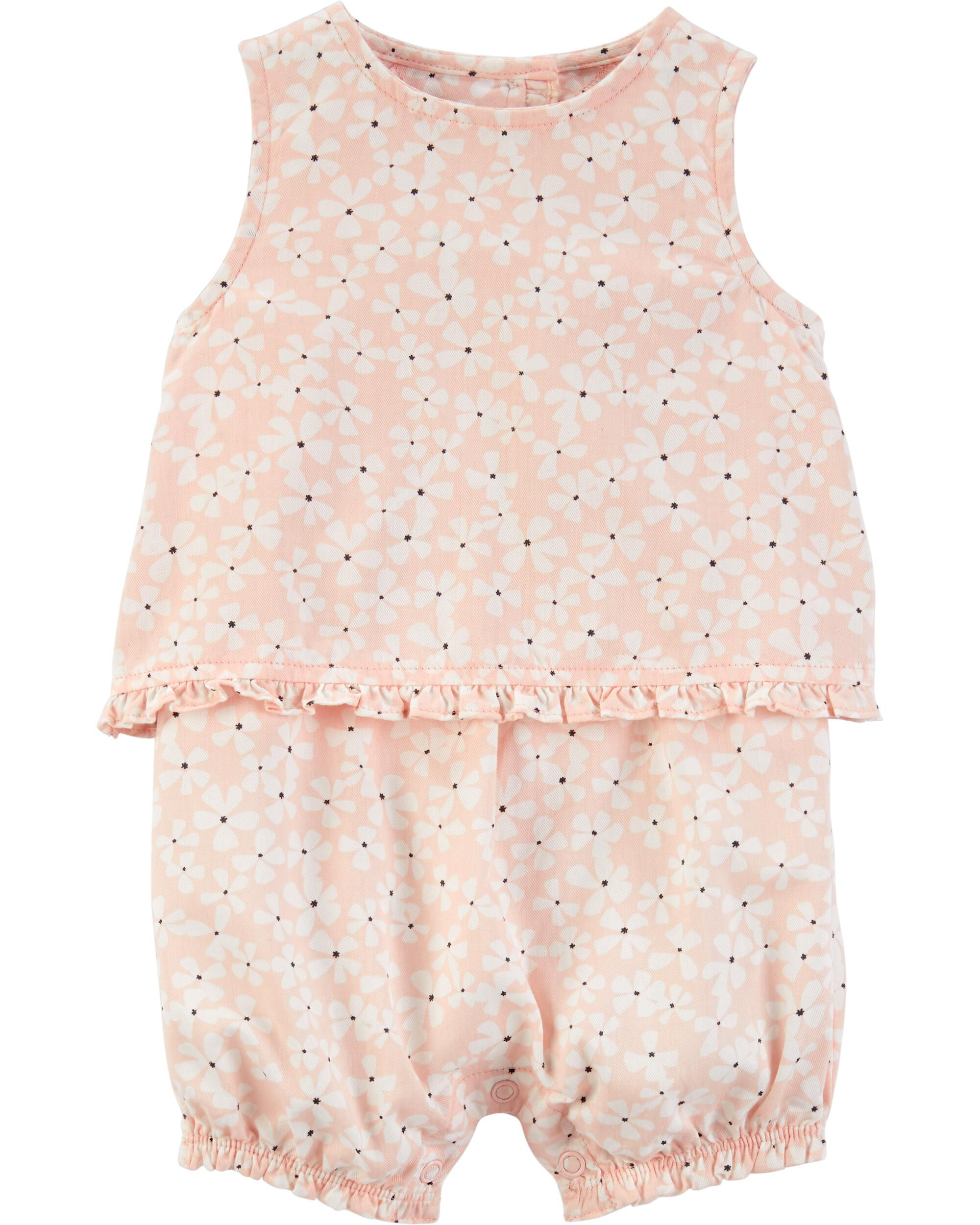 *Clearance*  Floral Tulip Back Romper
