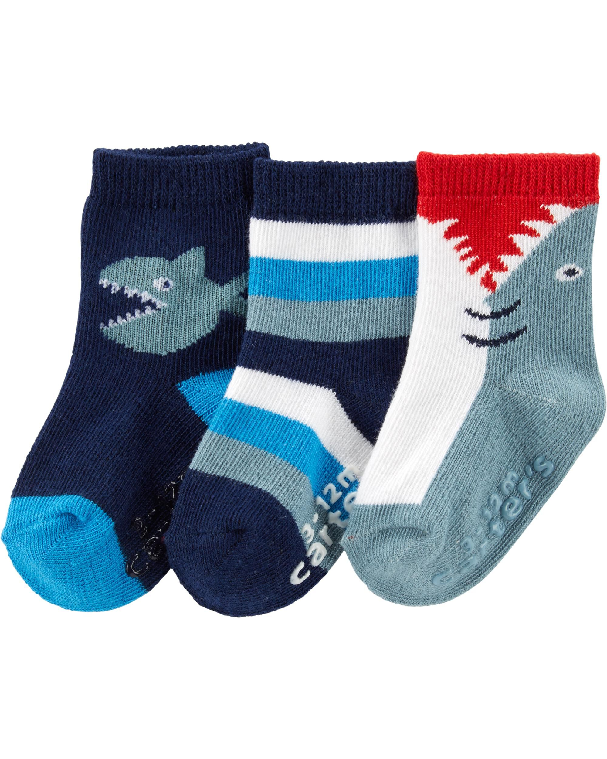 *Clearance*  3-Pack Shark Crew Socks