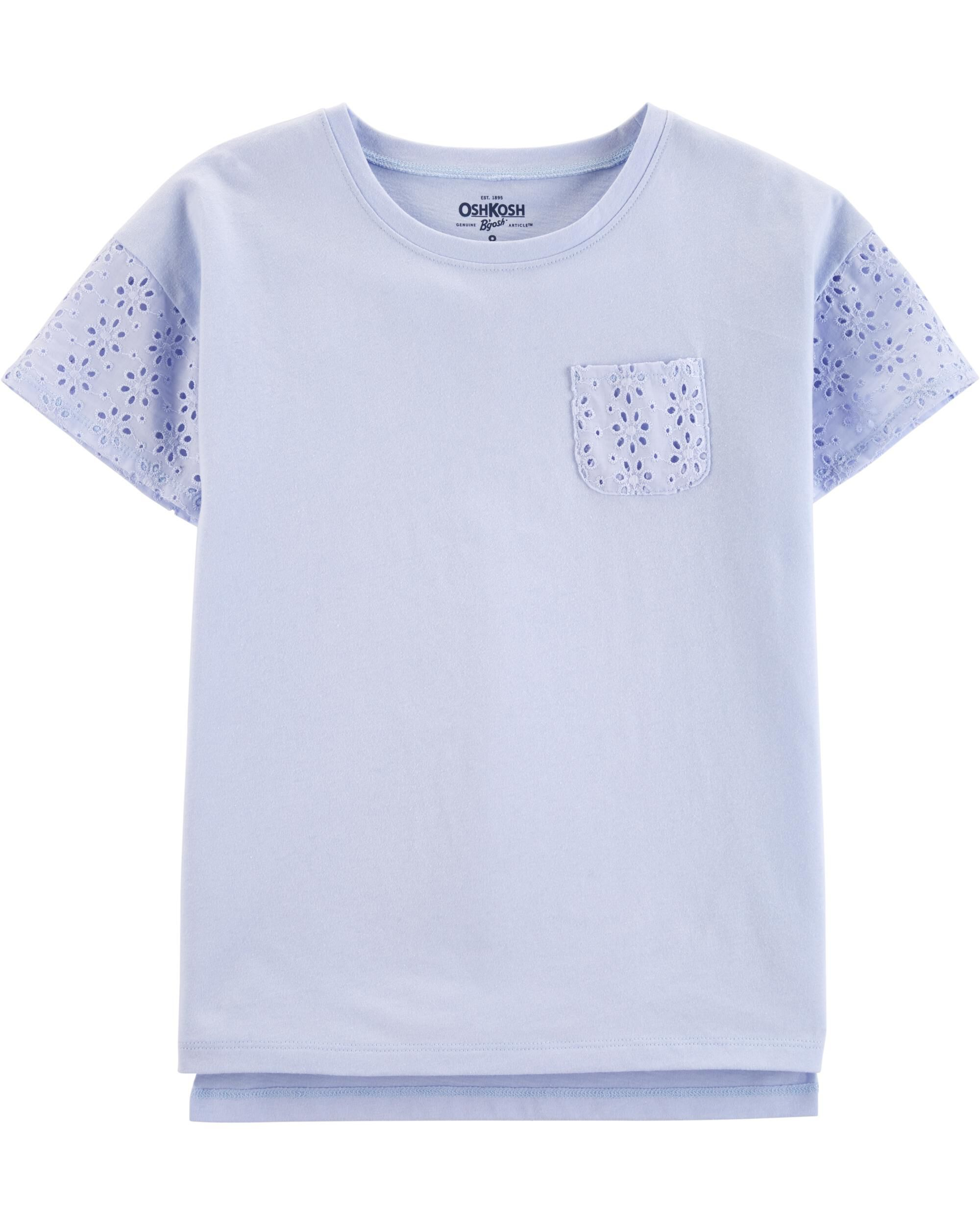 *Clearance*  Eyelet Pocket Tee