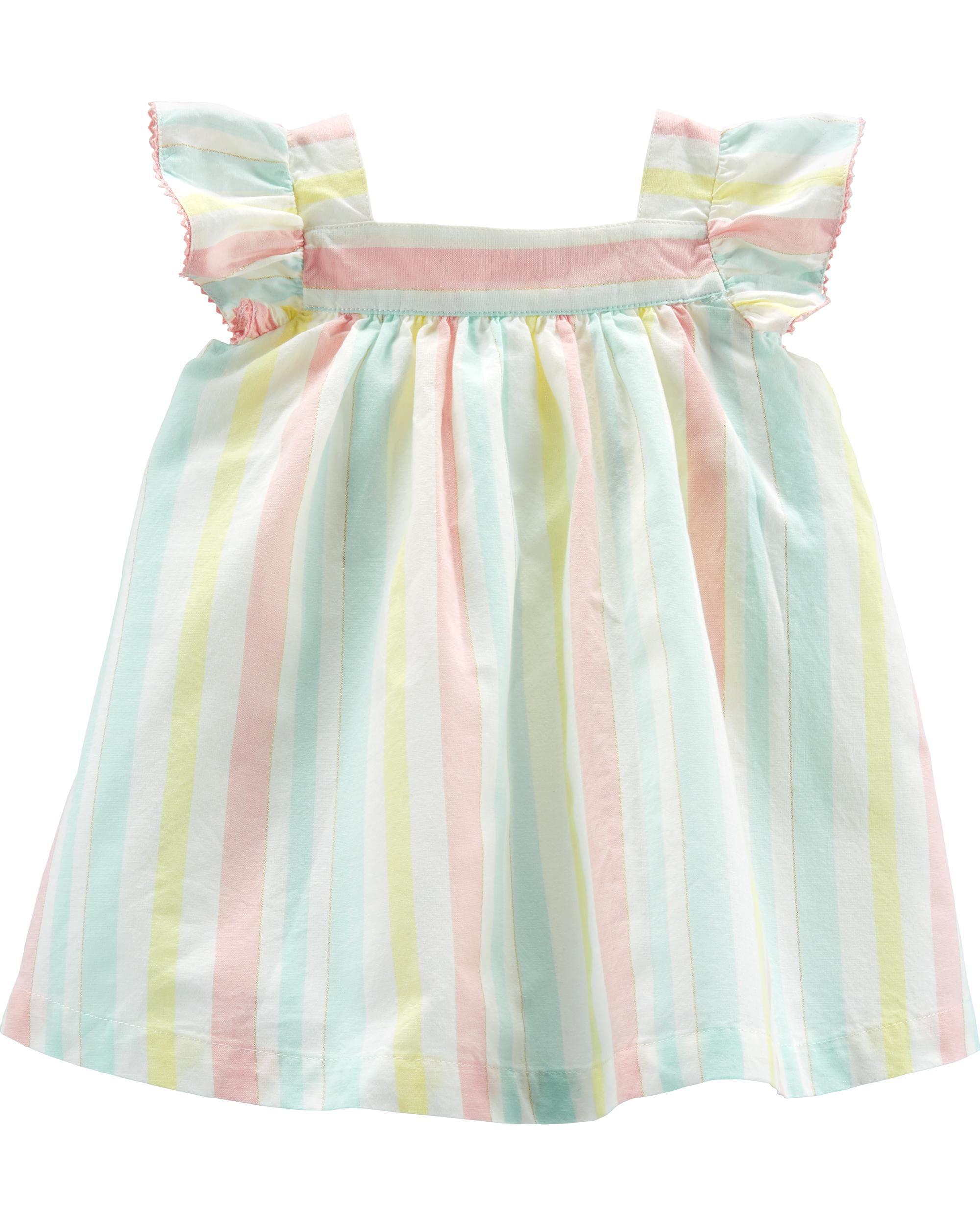 *Clearance*  Striped Flutter Sleeve Dress