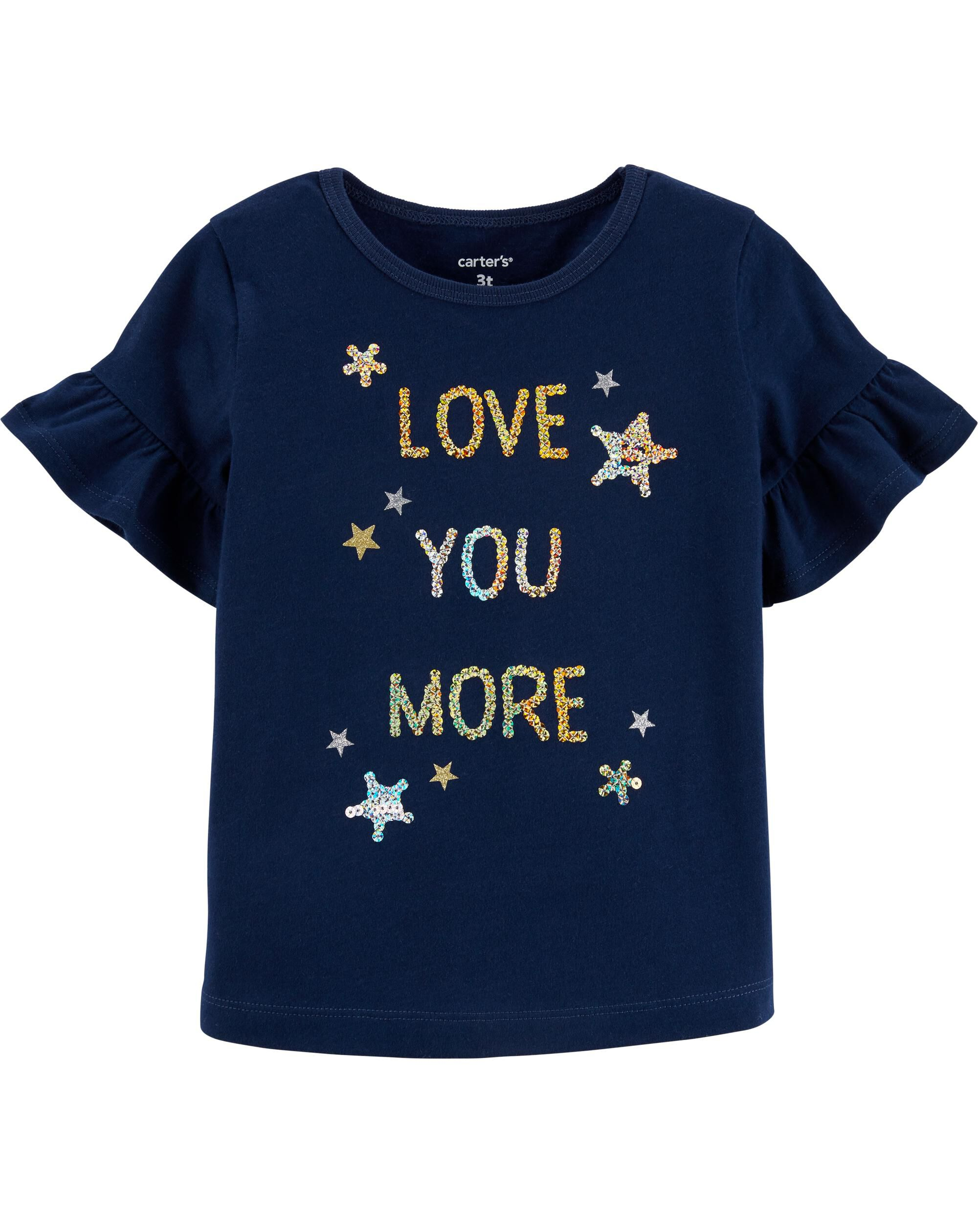 *Clearance*  Glitter Love You More Bell Sleeve T...