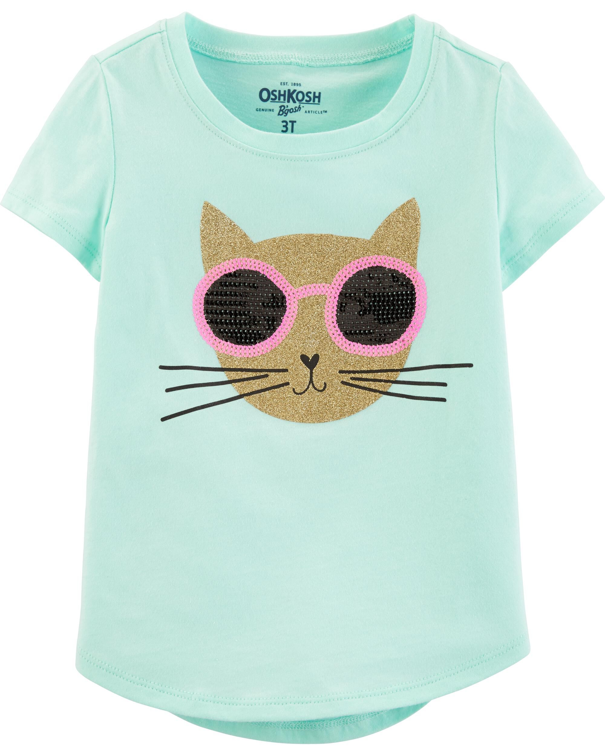 *Clearance*  Cat Sequin Tee