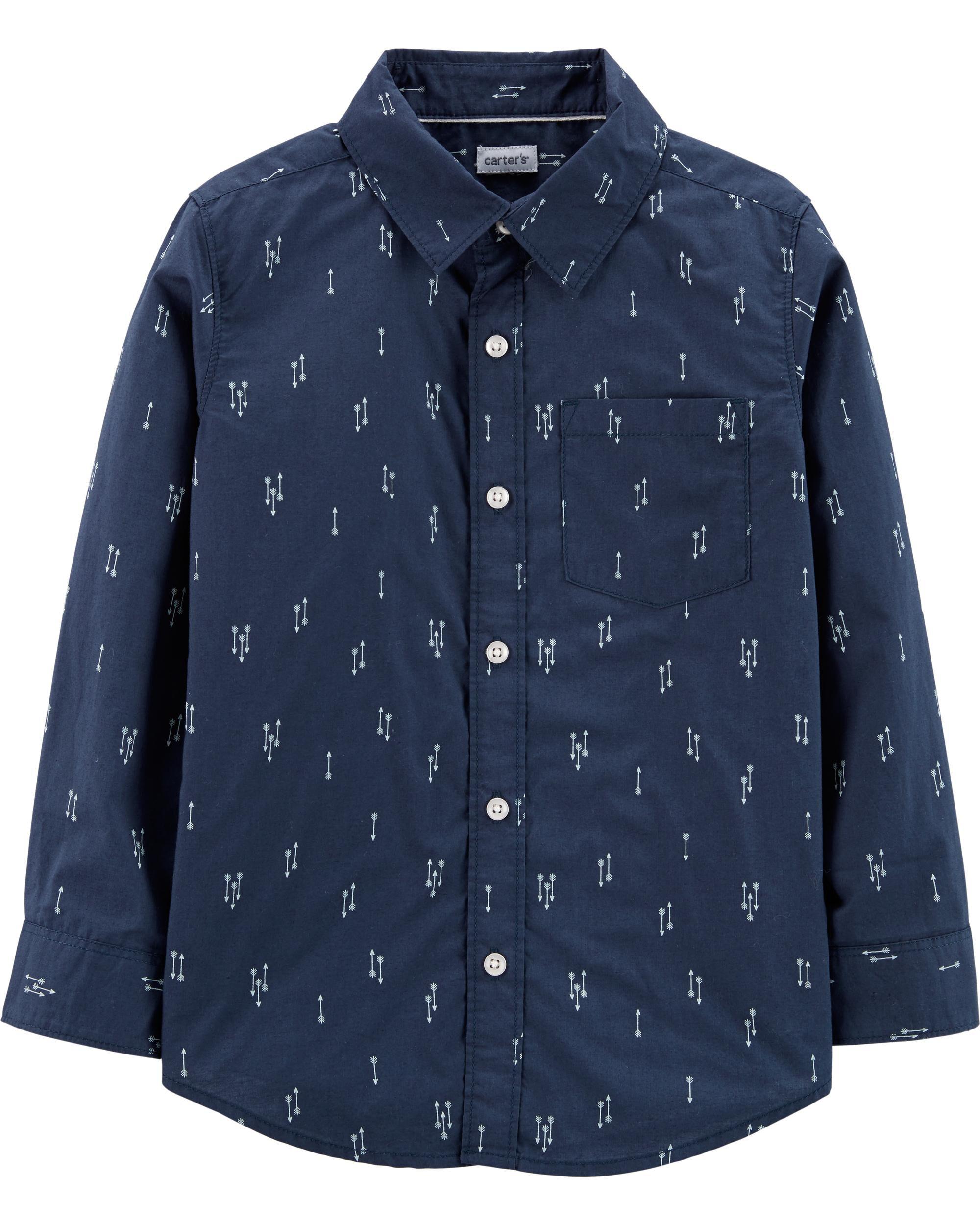 *Clearance*  Poplin Button-Front Shirt