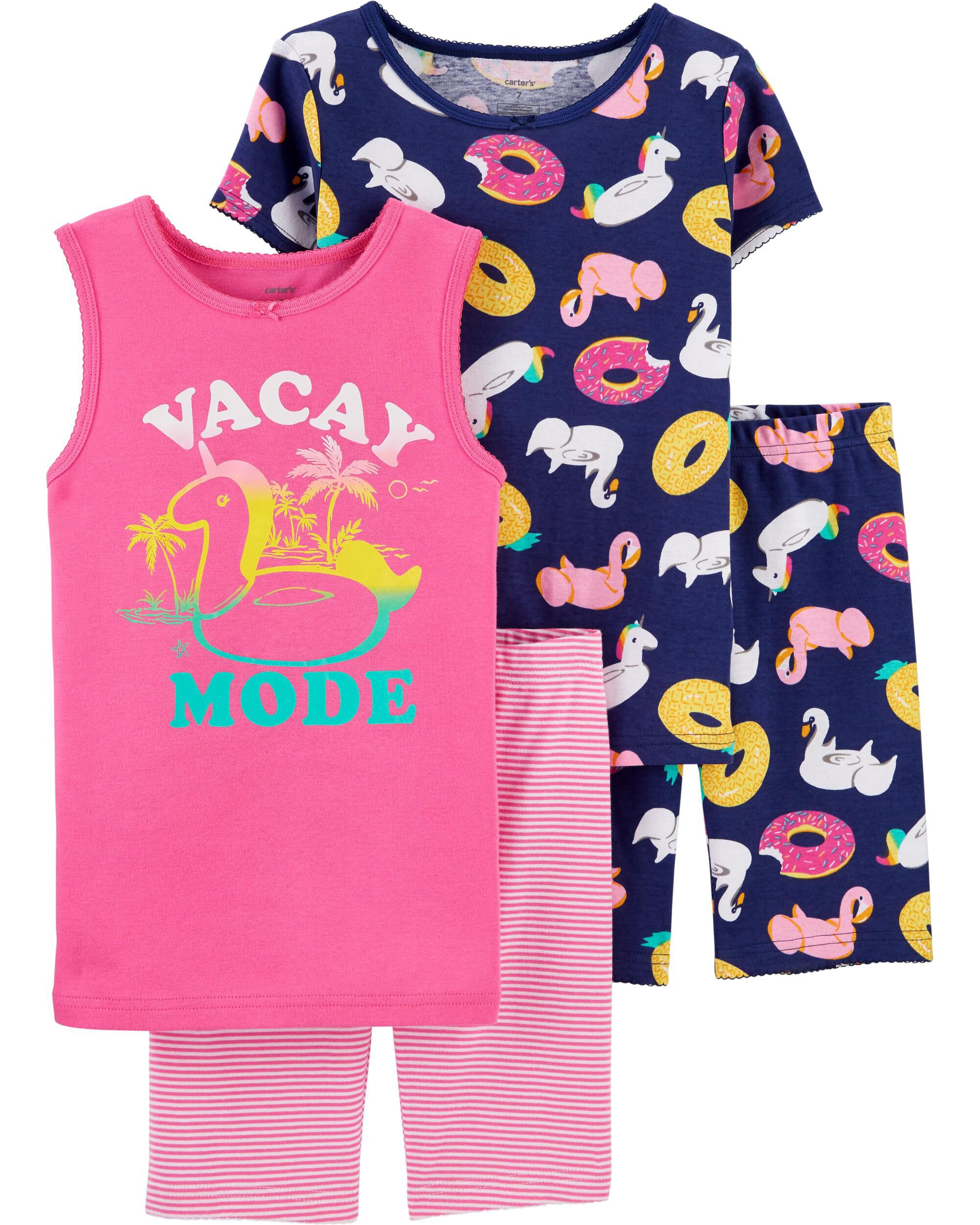 4-Piece Vacay Mode Snug Fit Cotton...