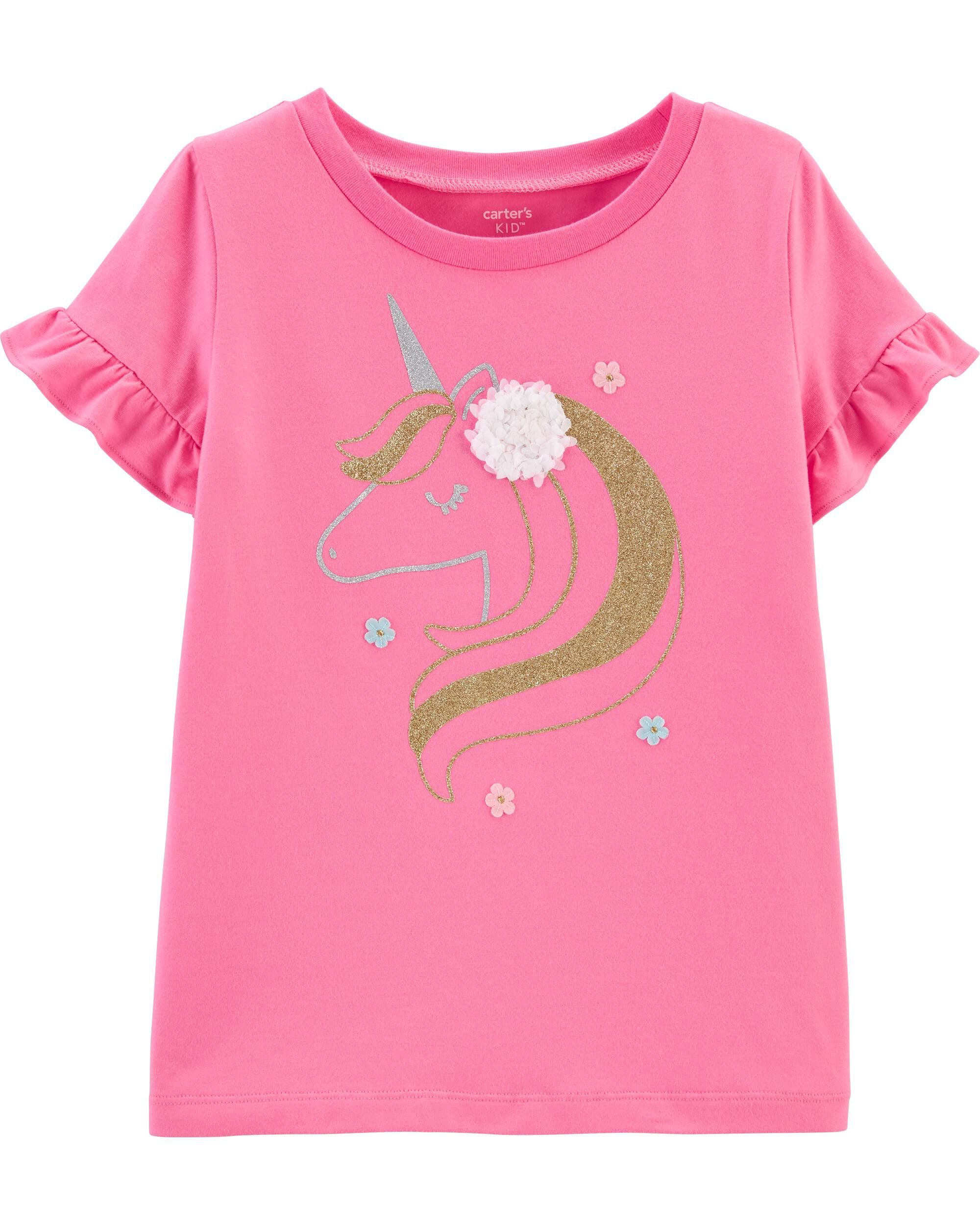 Glitter Unicorn Stretch Top