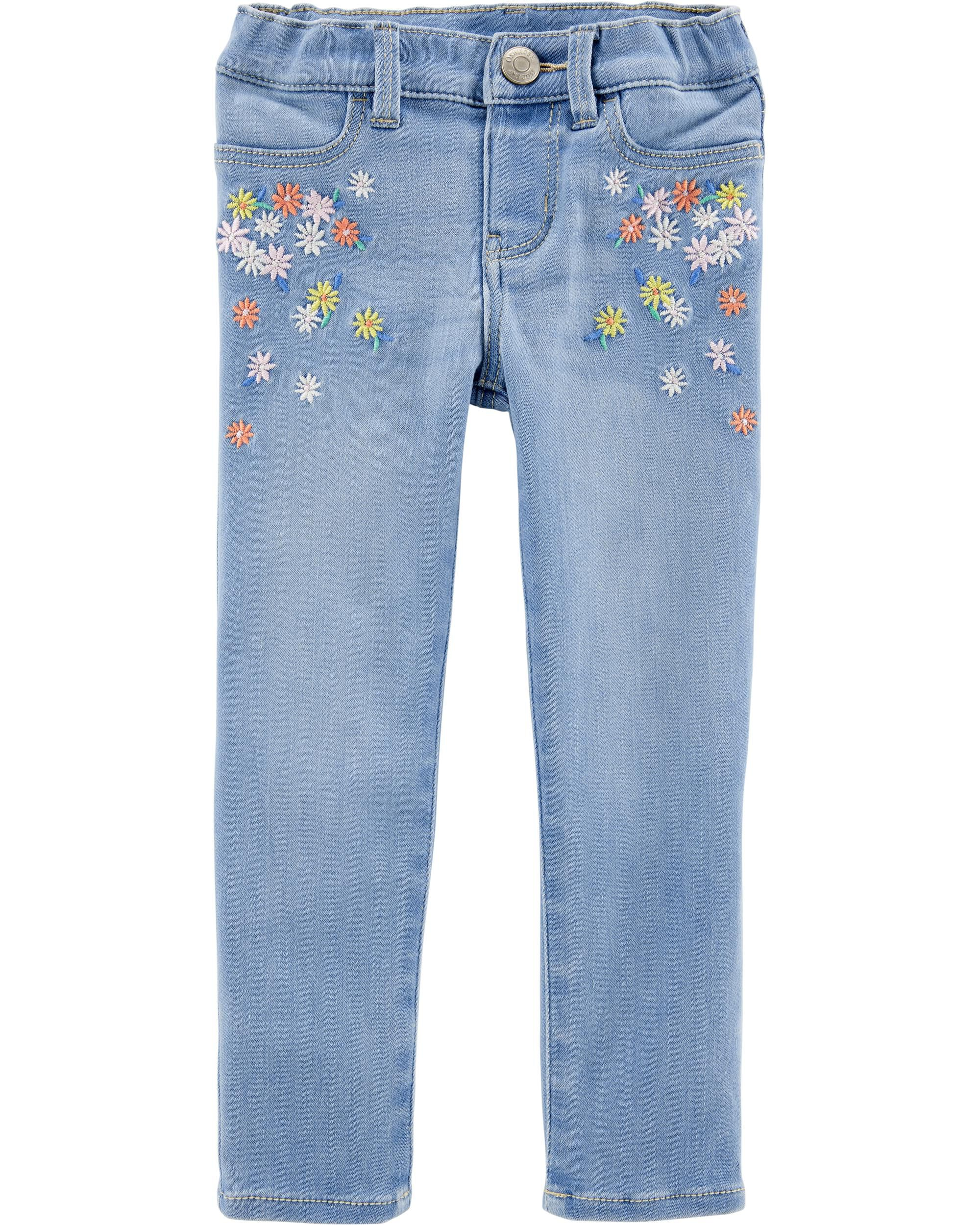 Embroidered Floral Jeggings