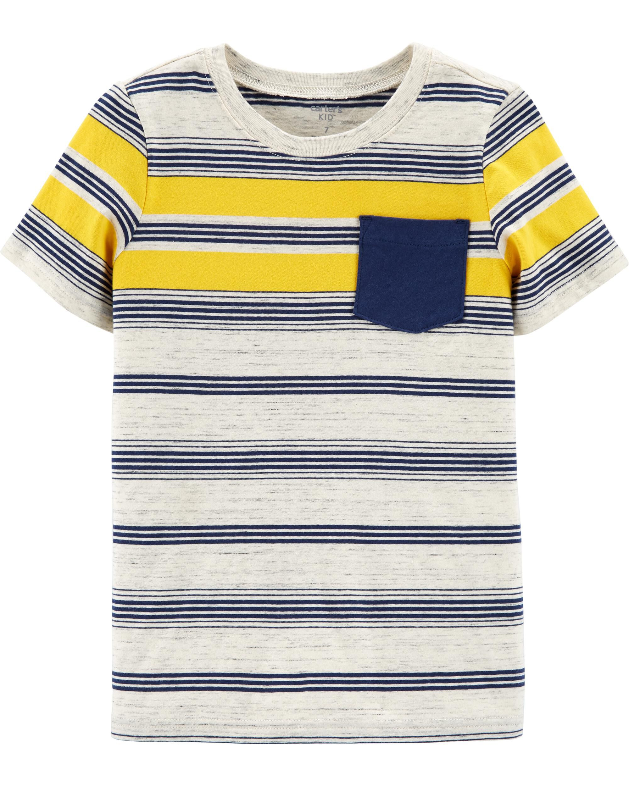 Striped Pocket Jersey Tee