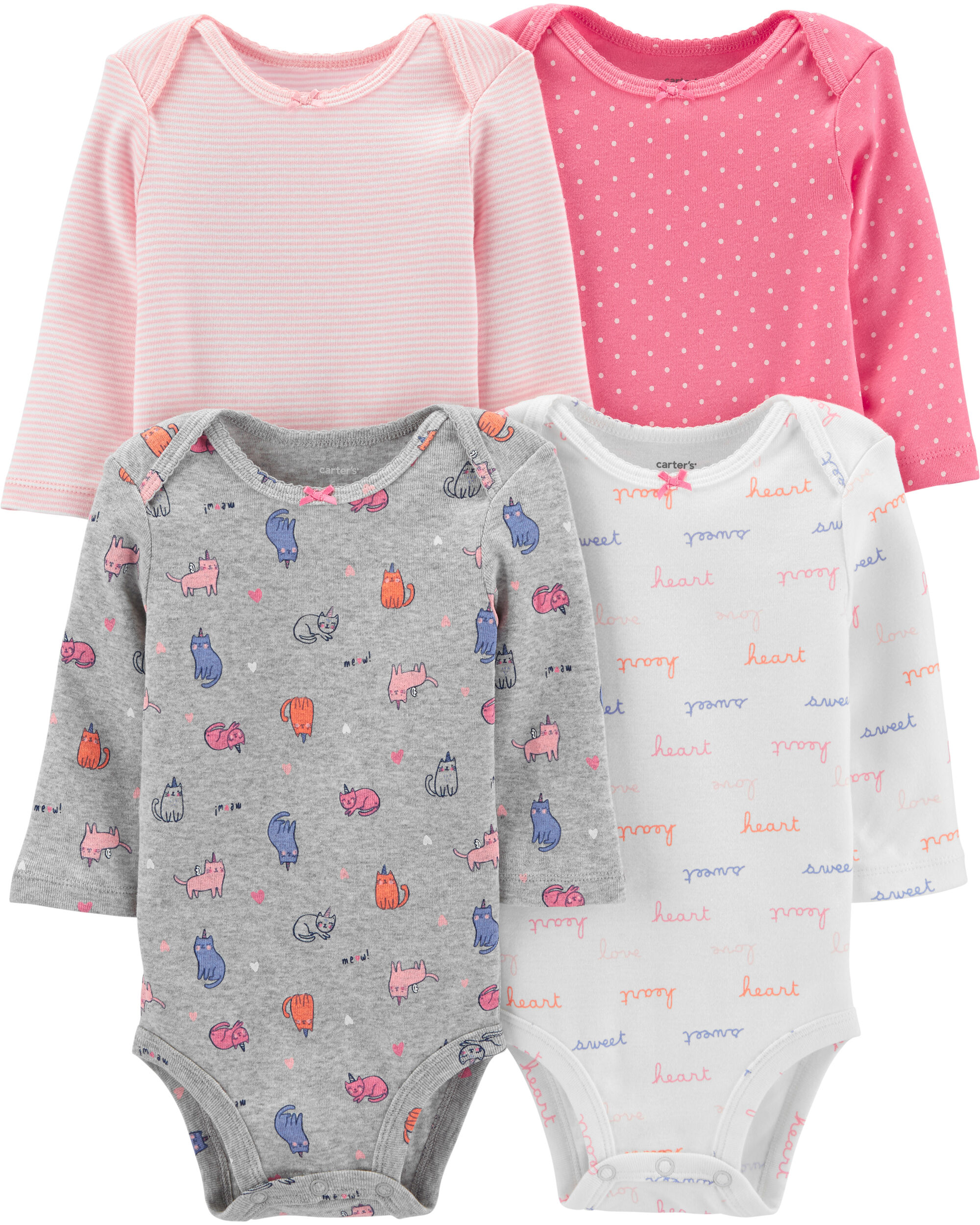 4-Pack Cats Original Bodysuits
