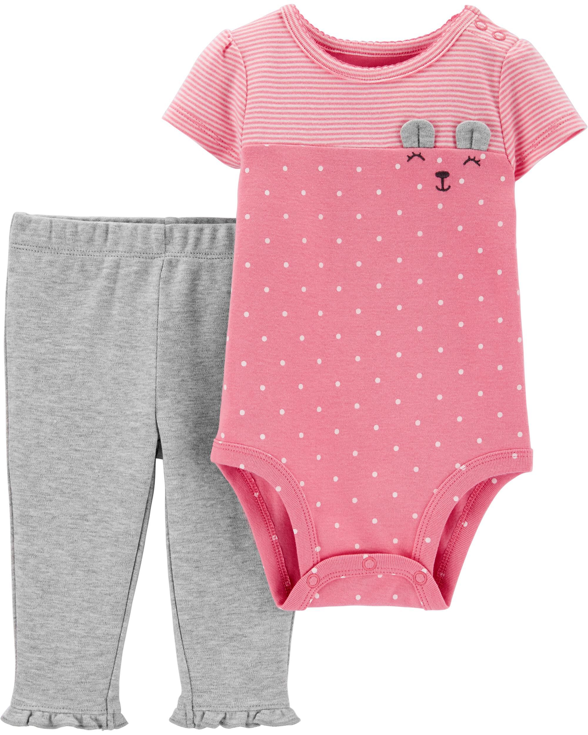 2-Piece Bear Bodysuit Pant Set