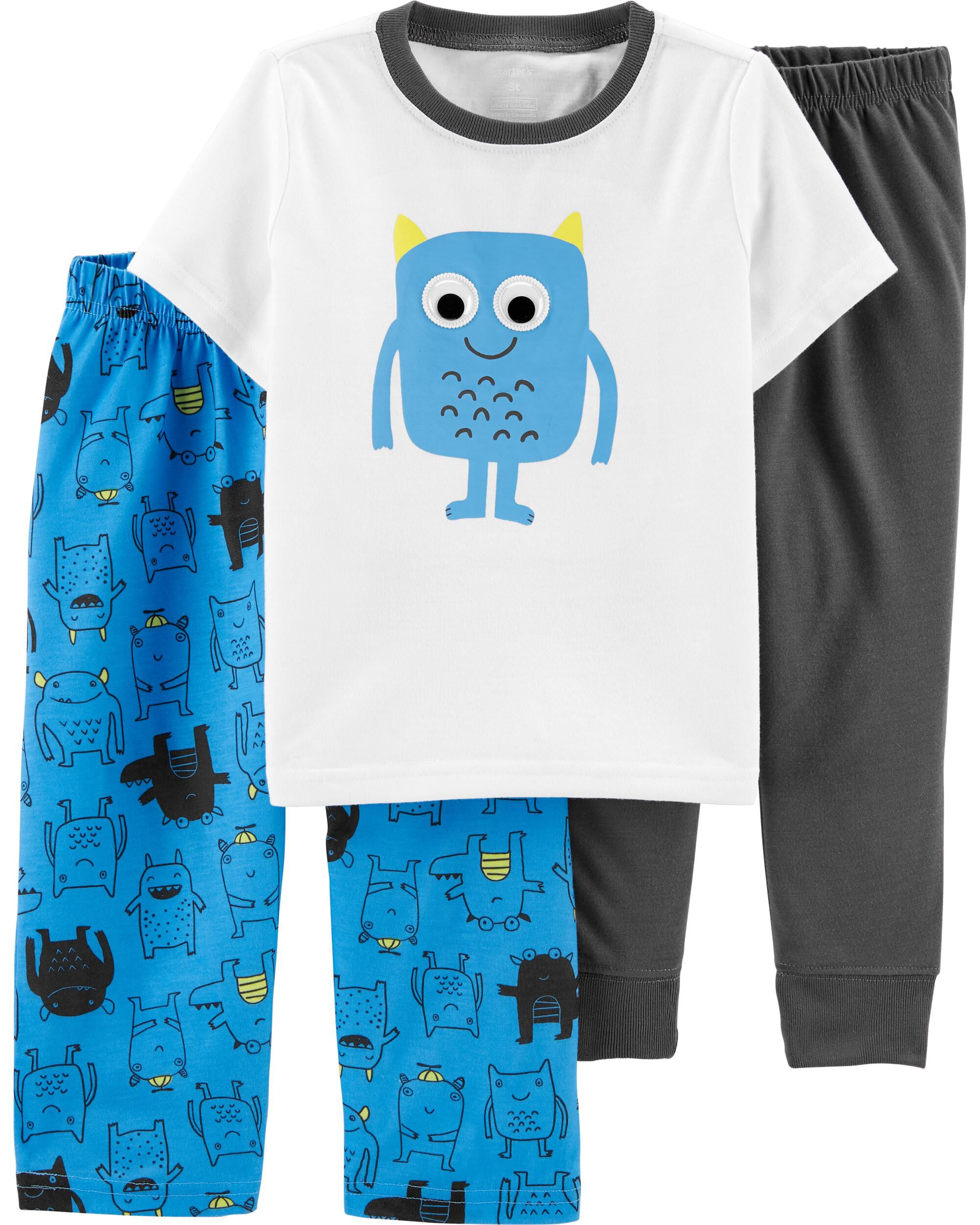 3-Piece Monster Truck Poly PJs