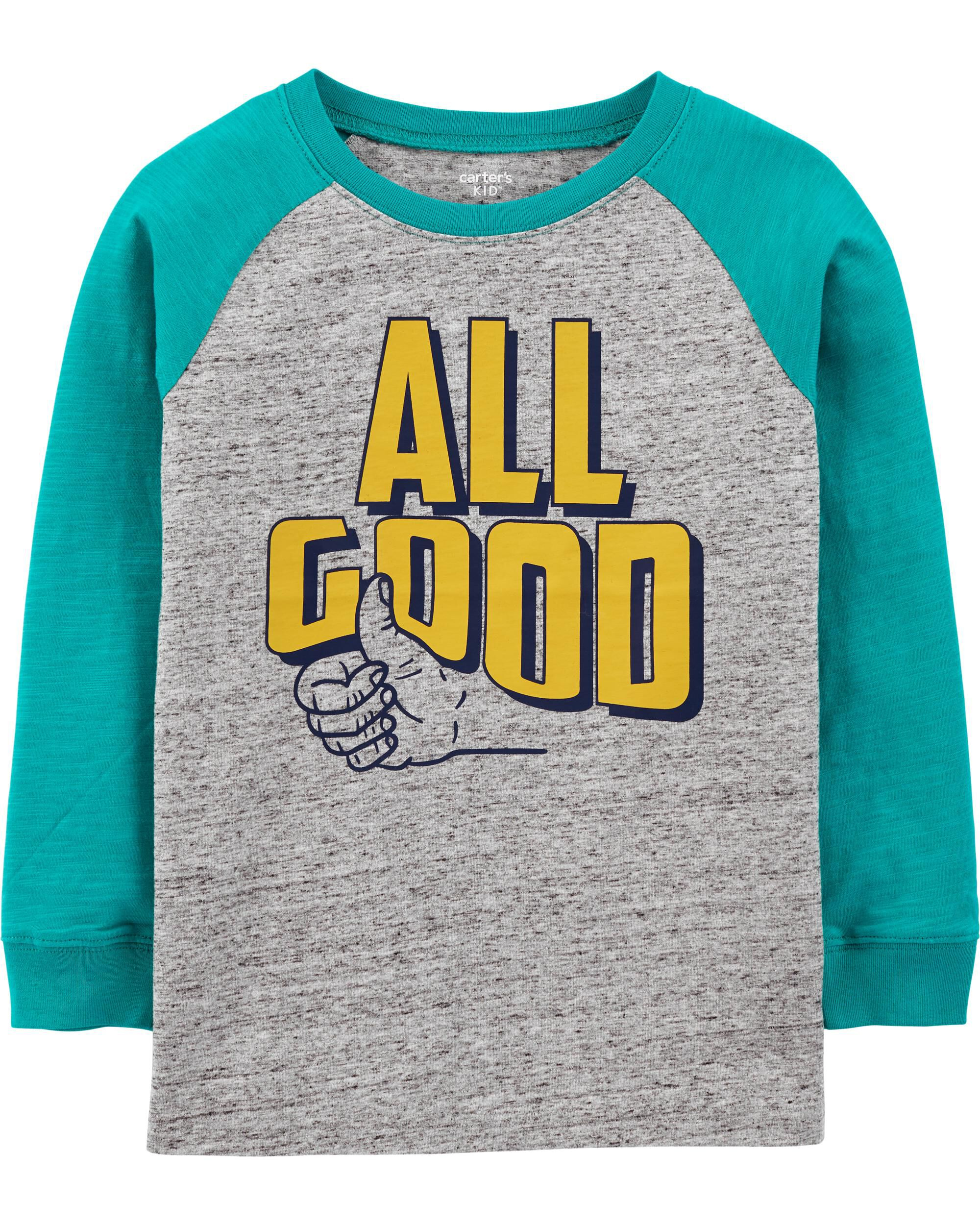 All Good Raglan Jersey Tee