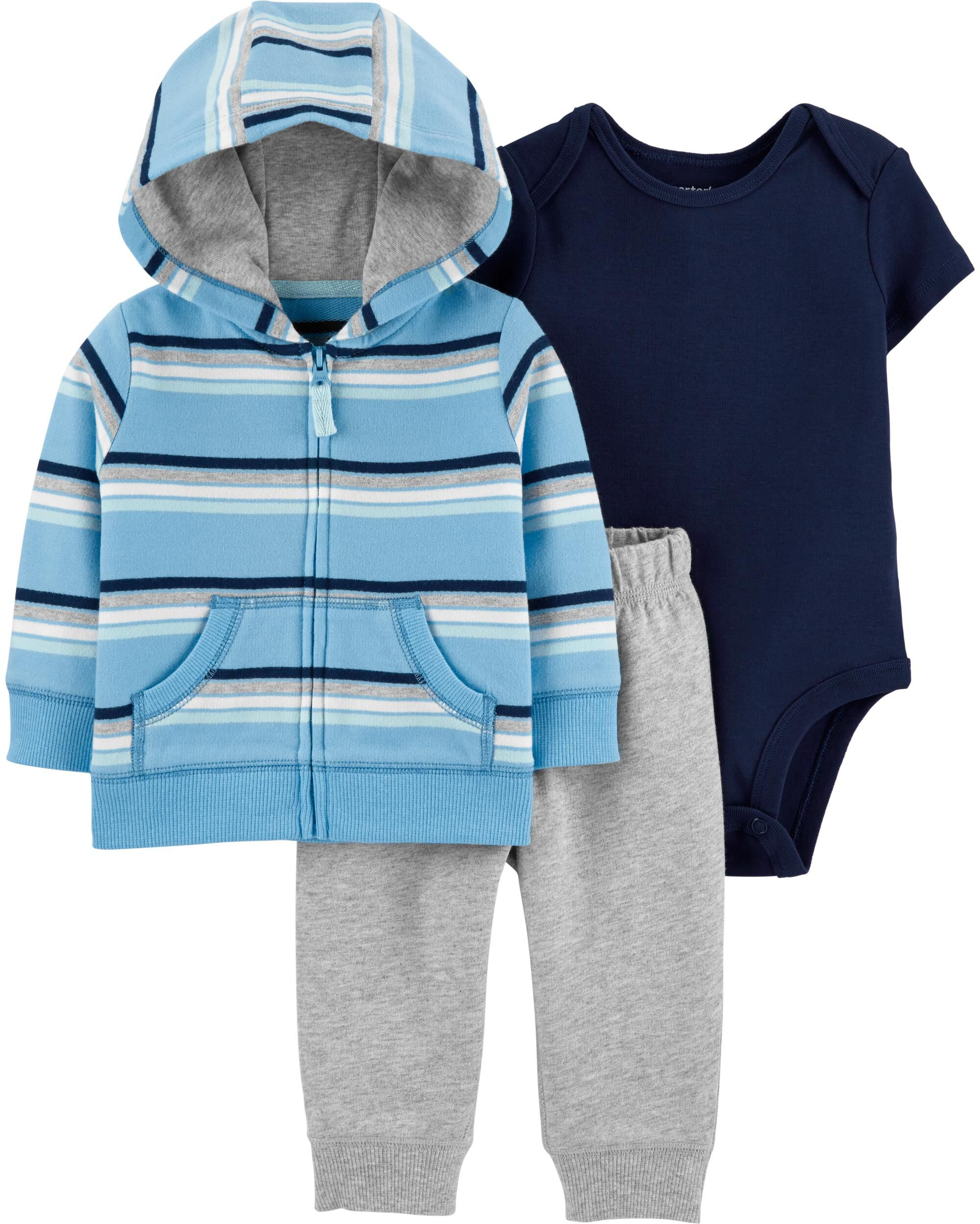 3-Piece Striped Little Jacket Set