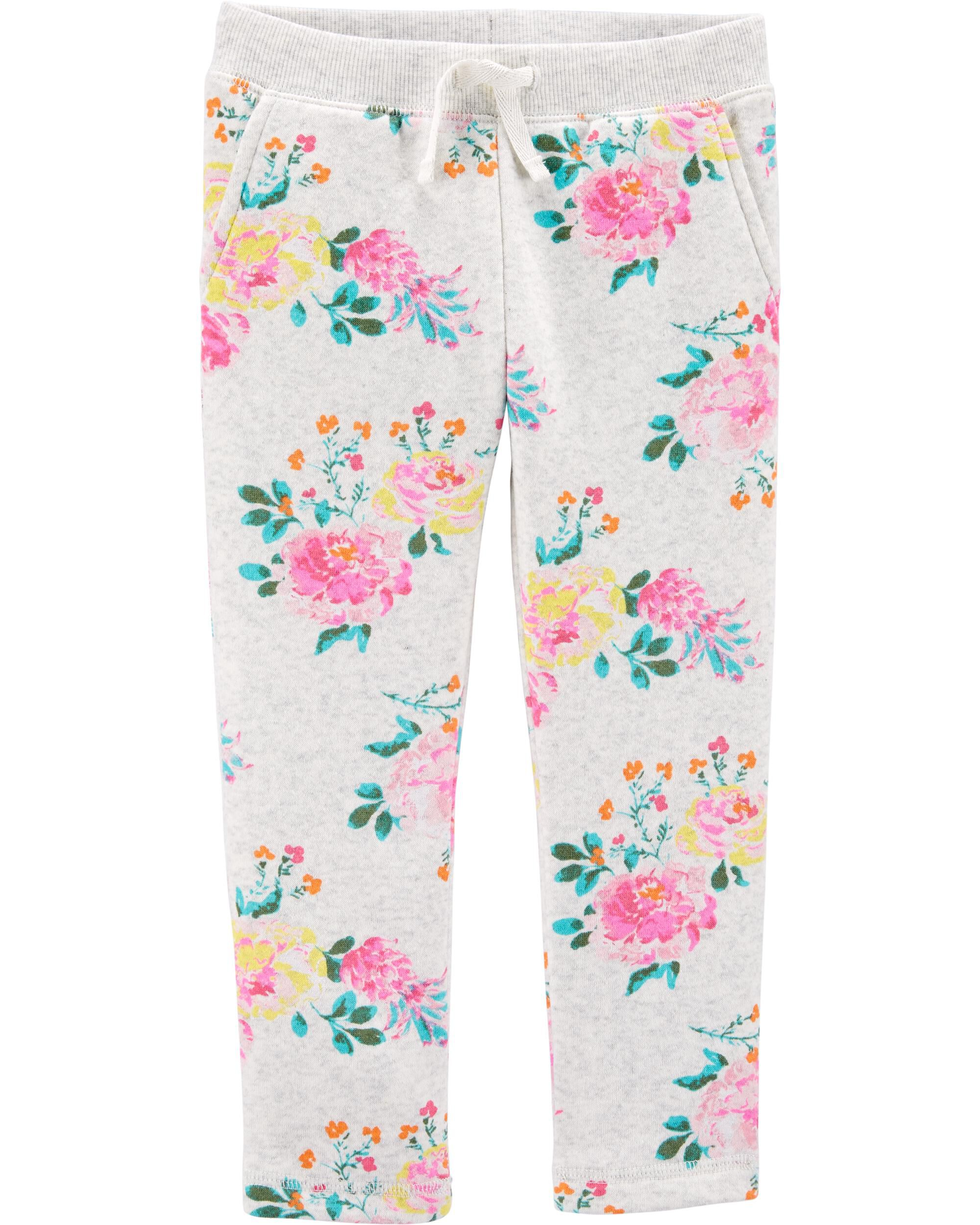 Floral Fleece Pants