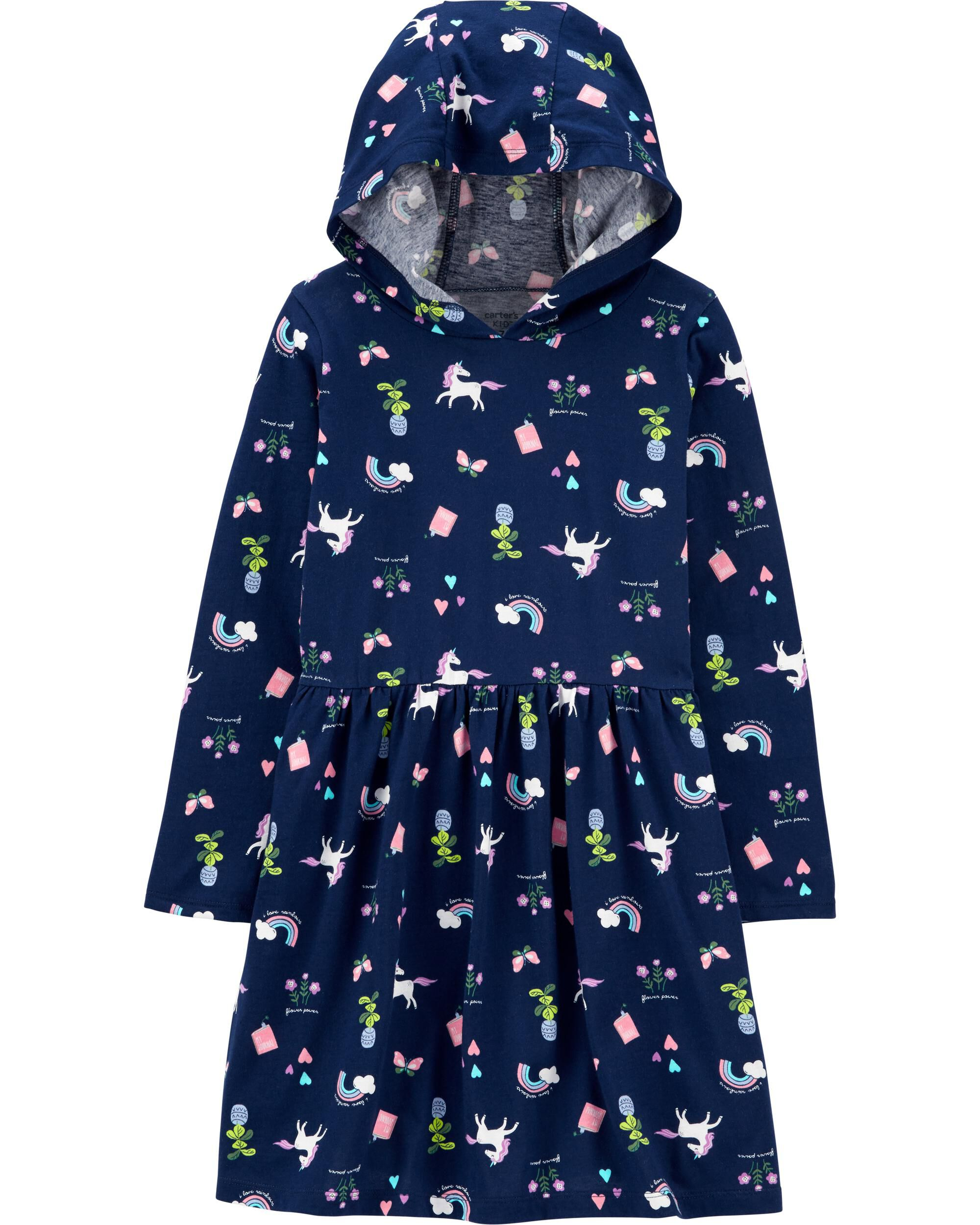 Unicorn Hooded Jersey Dress