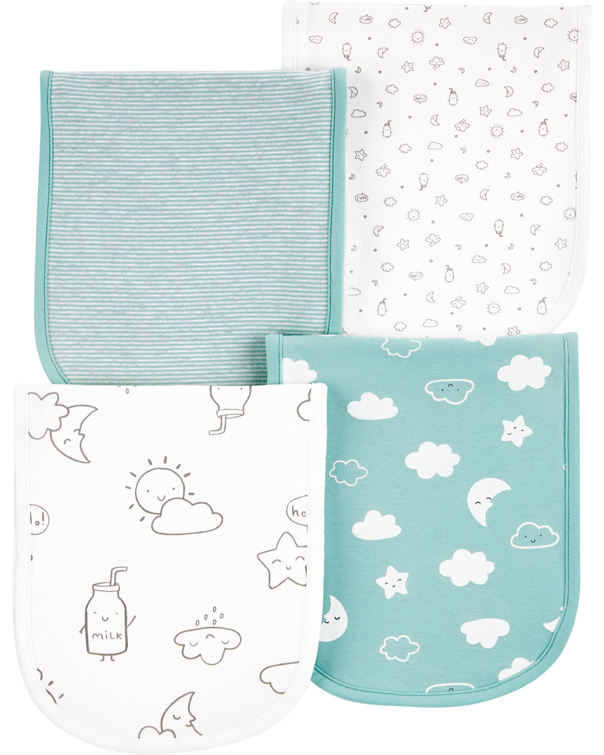 Oshkoshbgosh 4-Pack Cloud Burp Cloths