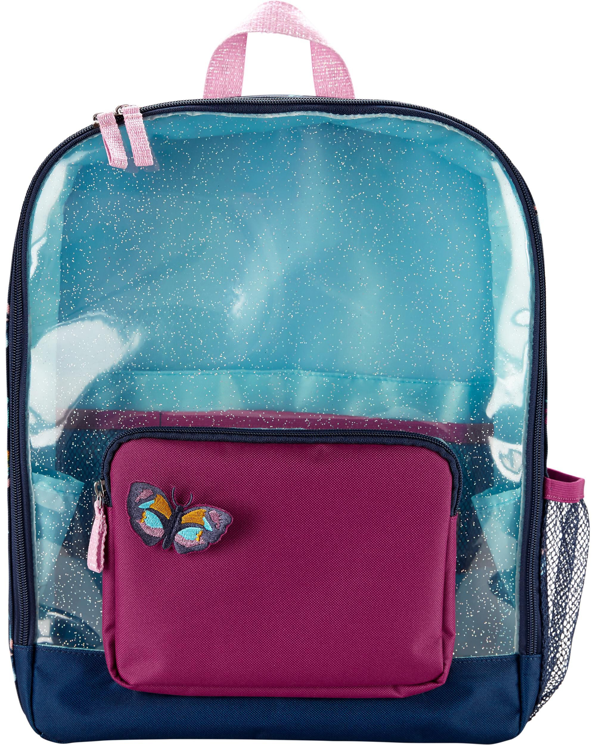 Oshkoshbgosh Floral Clear Glitter Backpack