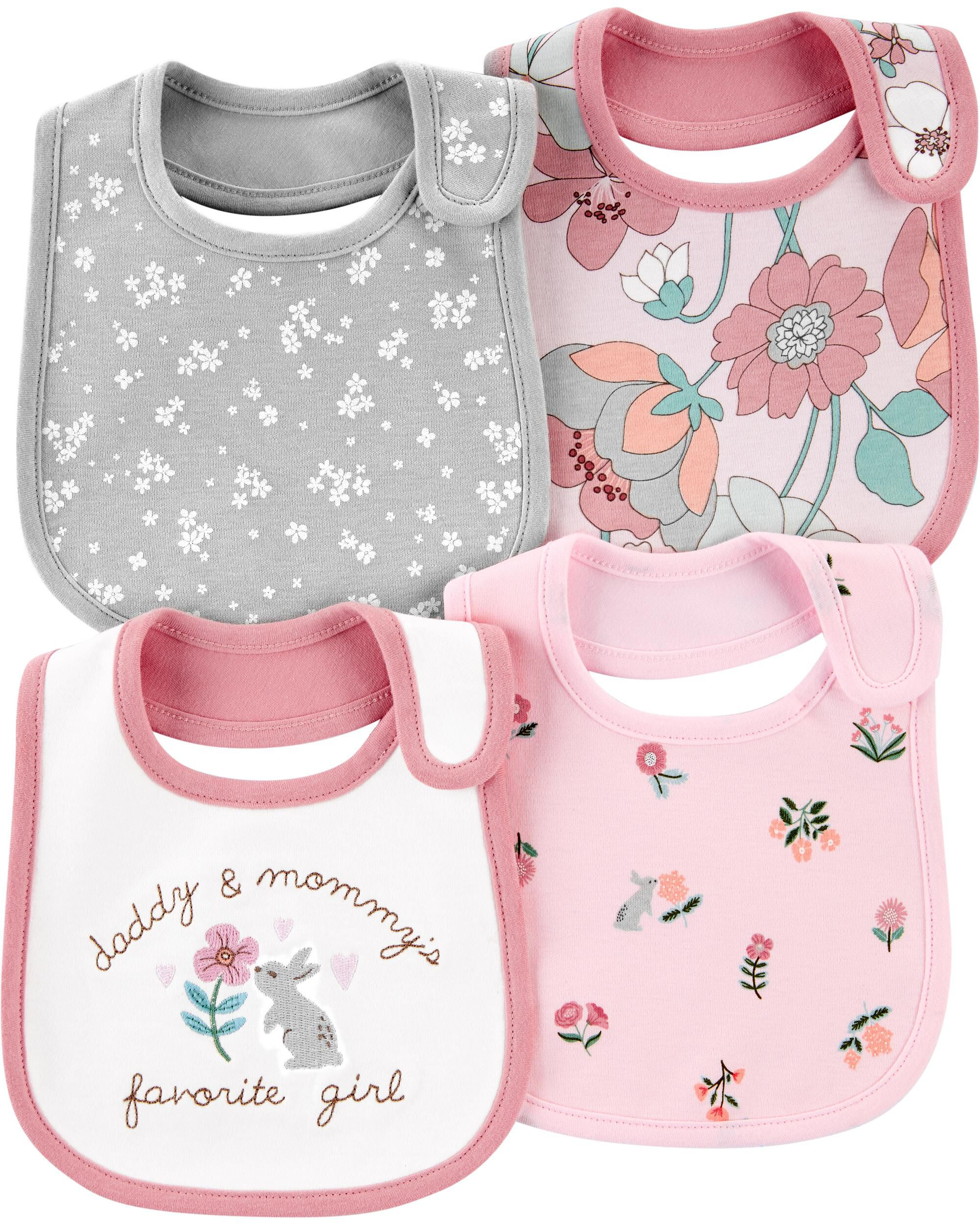 Oshkoshbgosh 4-Pack Floral Teething Bibs
