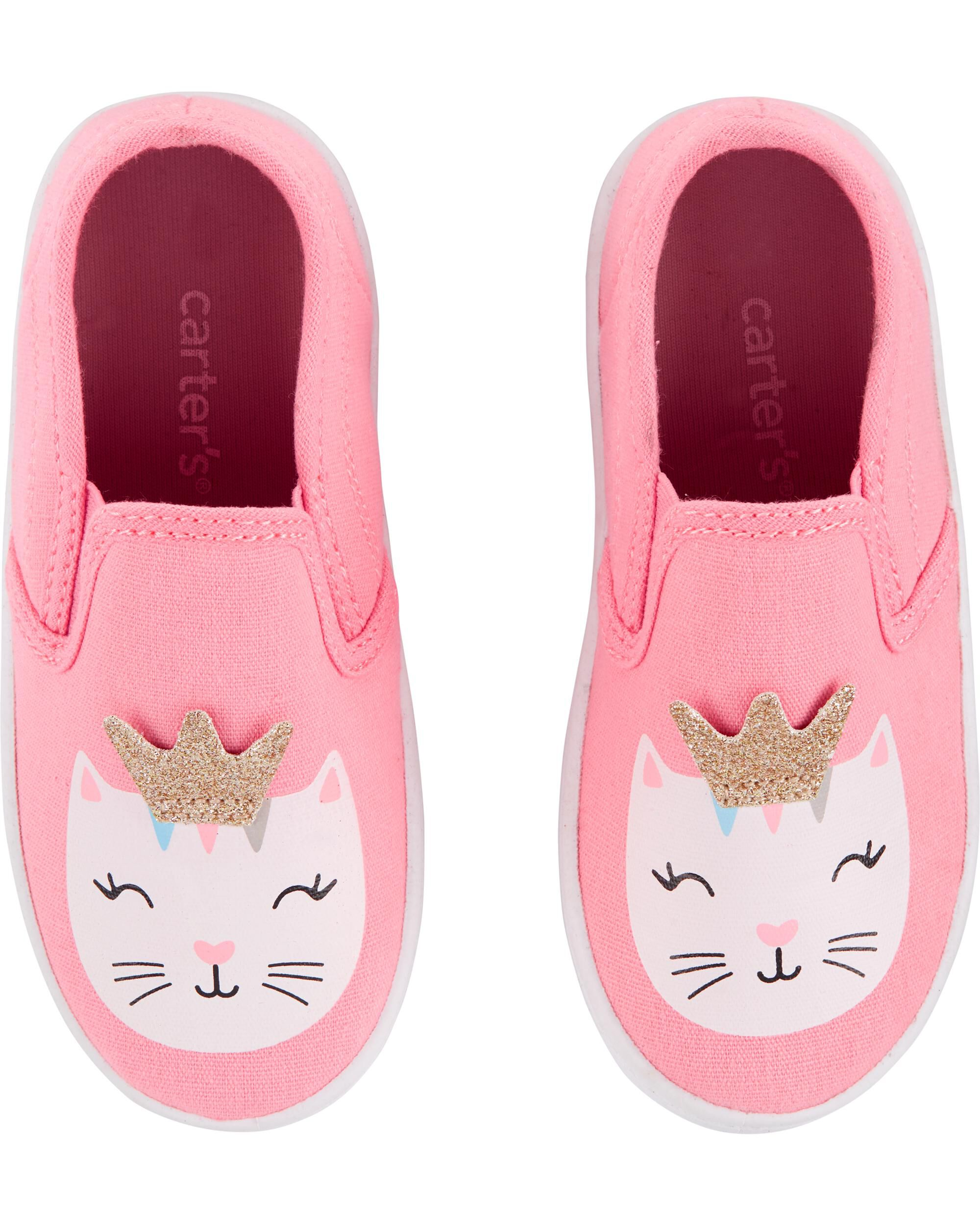 Oshkoshbgosh Carters Glitter Cat Casual Sneakers