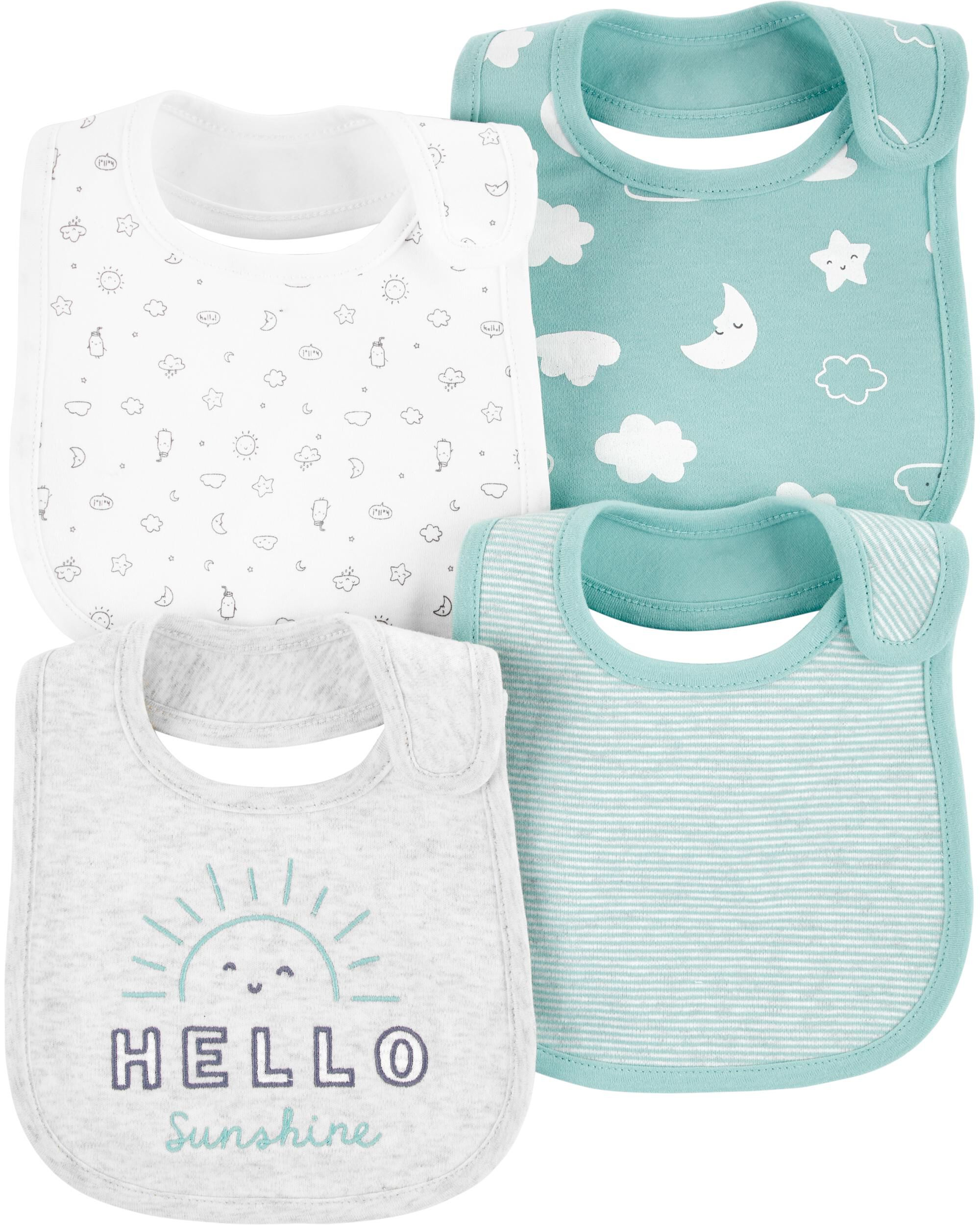Oshkoshbgosh 4-Pack Sun Teething Bibs