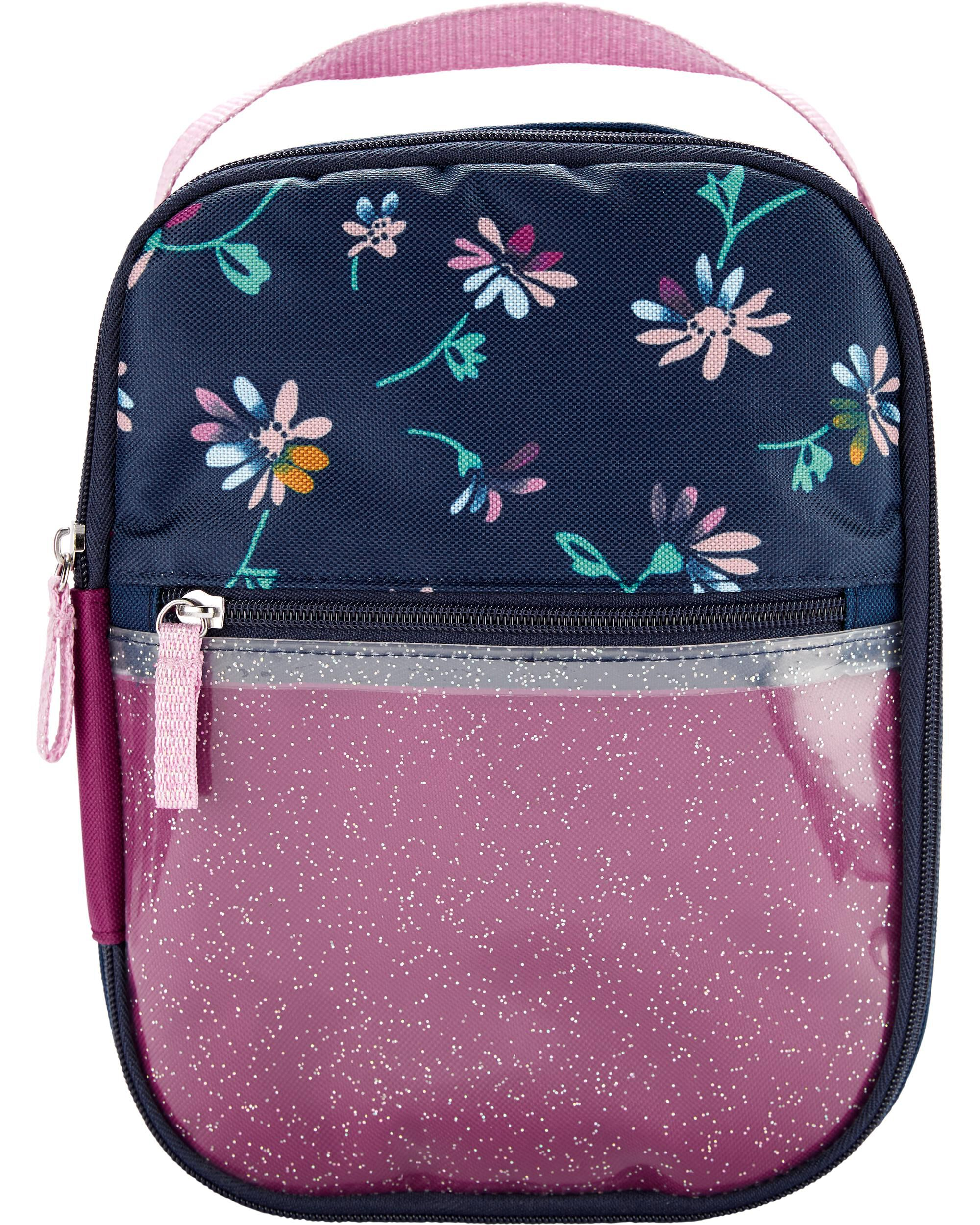 Oshkoshbgosh Floral Clear Glitter Lunch Box