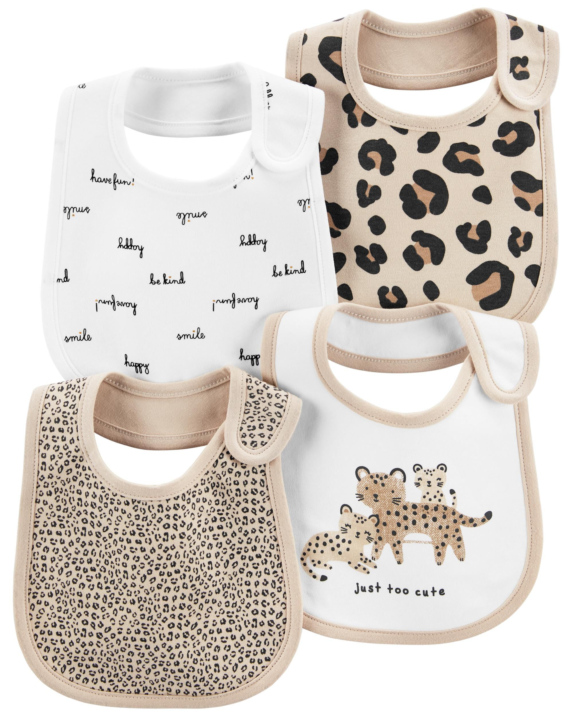 Oshkoshbgosh 4-Pack Animal Teething Bibs