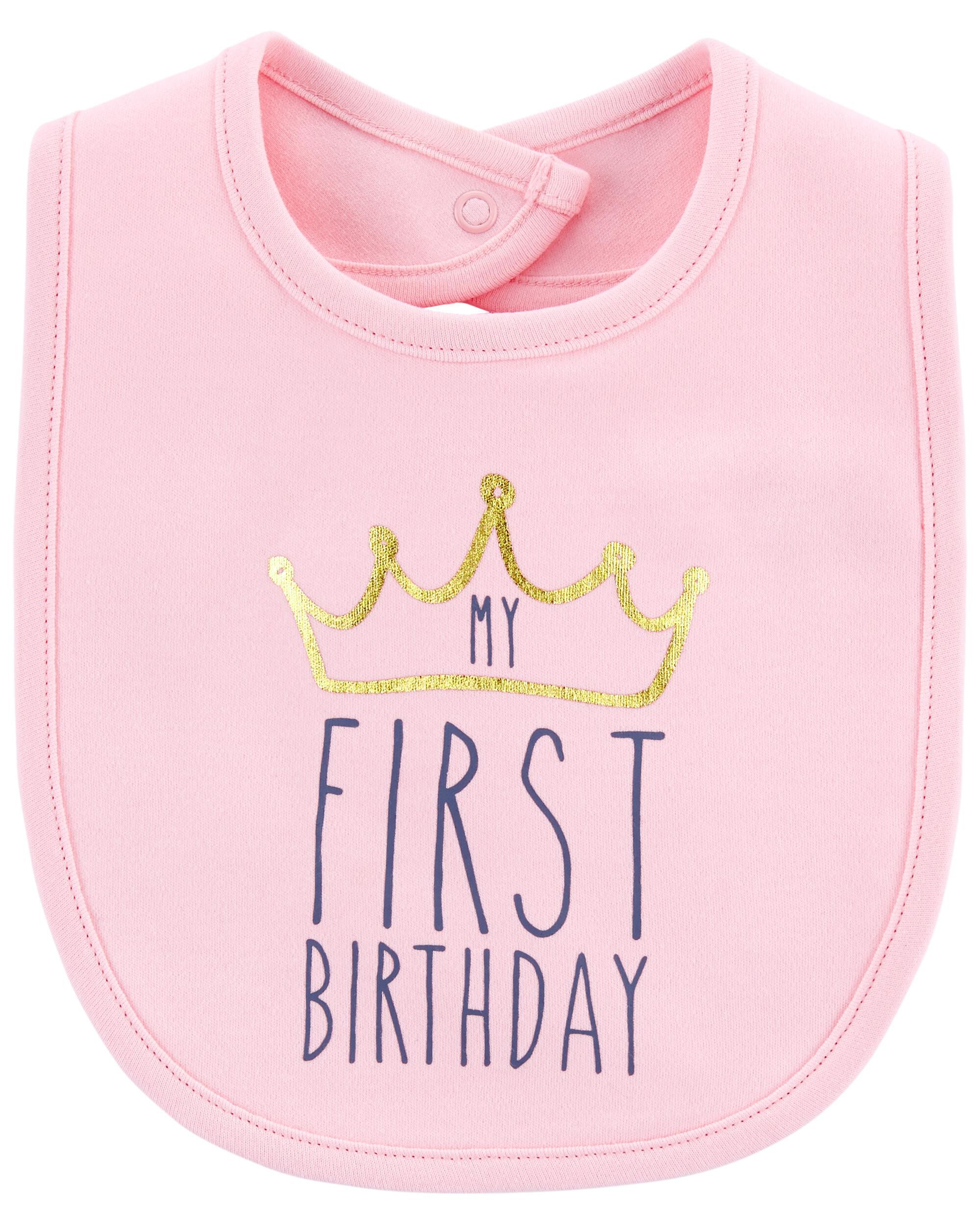 Oshkoshbgosh My First Birthday Teething Bib