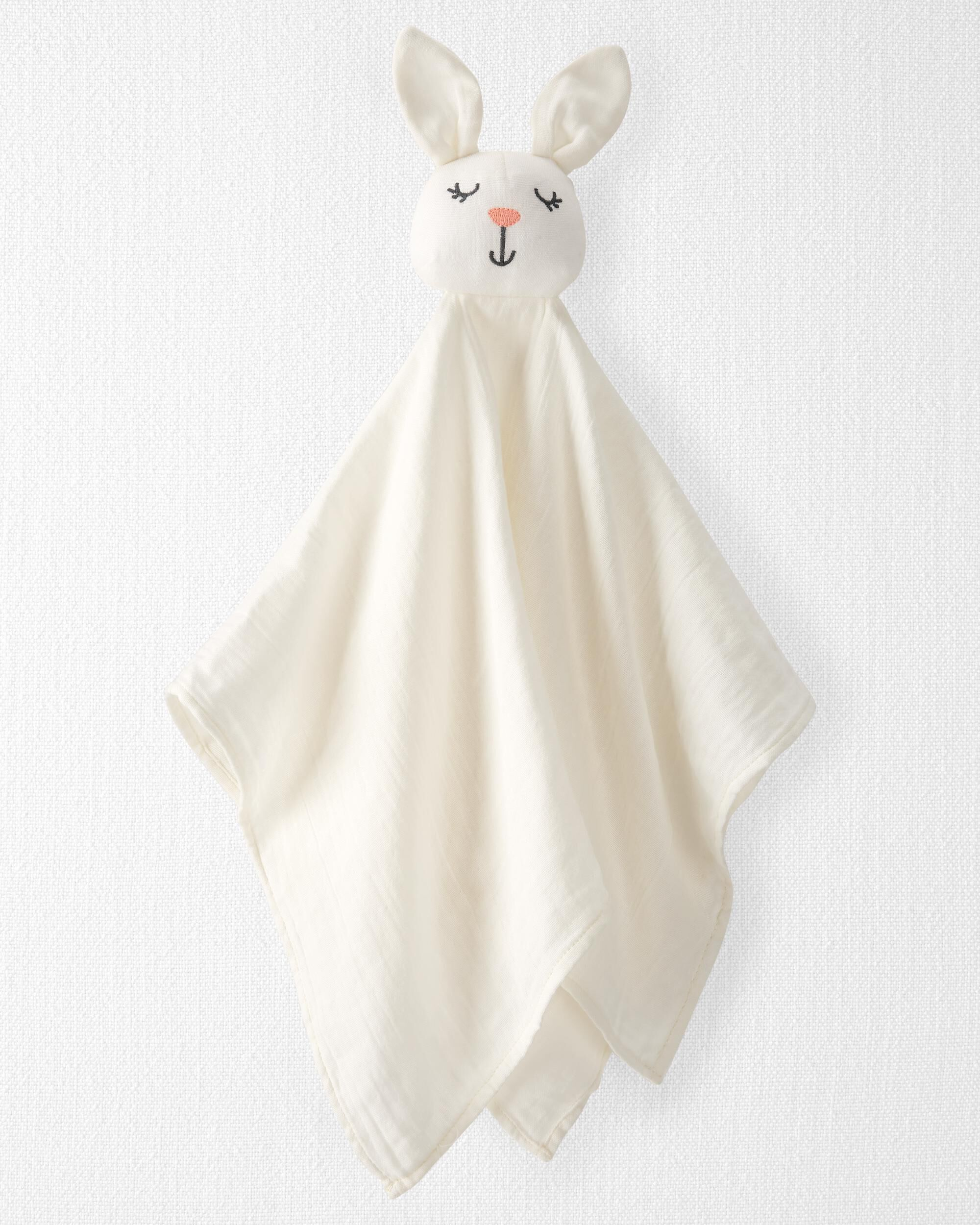 Oshkoshbgosh Organic Cotton Muslin Bunny Lovie