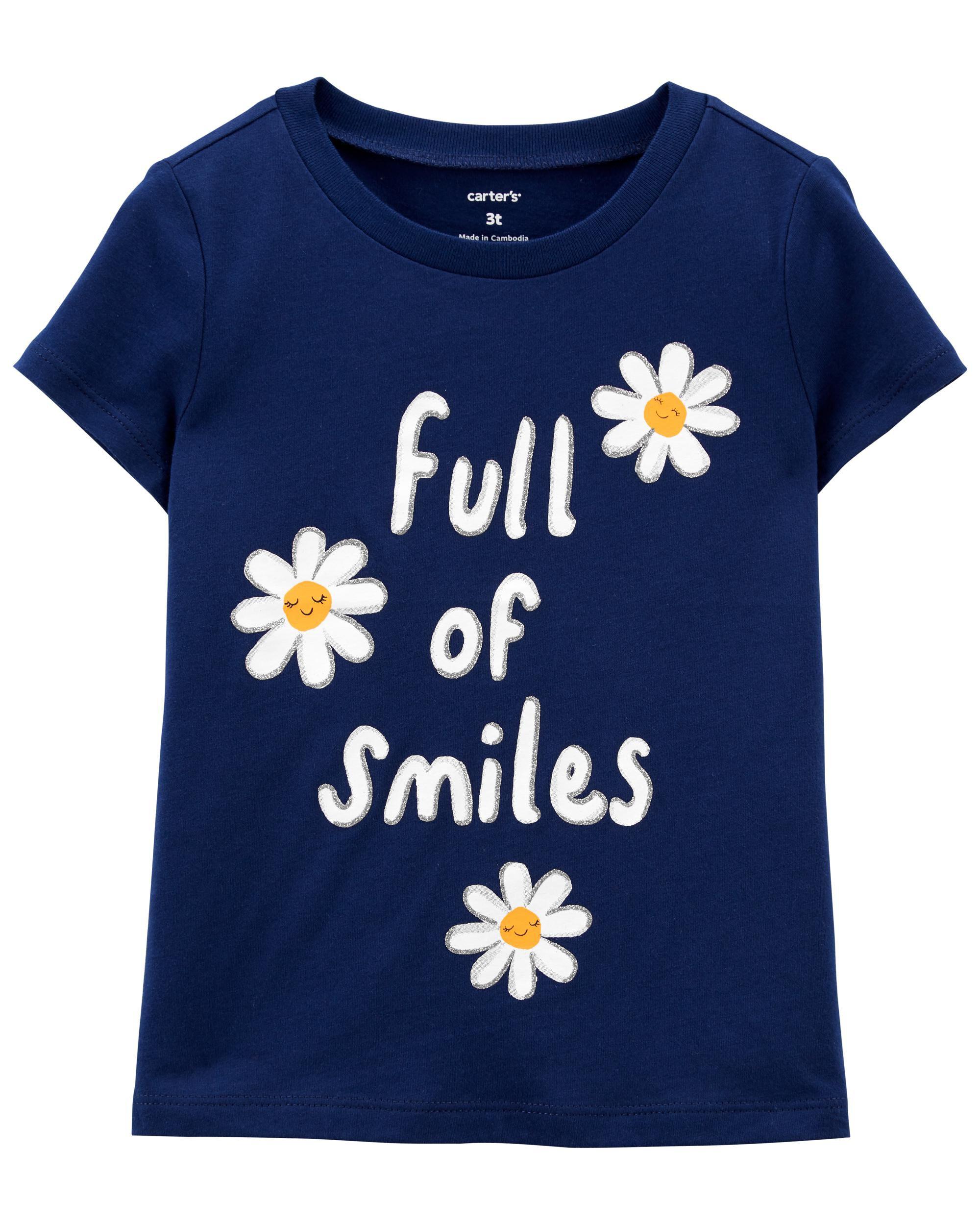 Oshkoshbgosh Full Of Smiles Daisy Jersey Tee