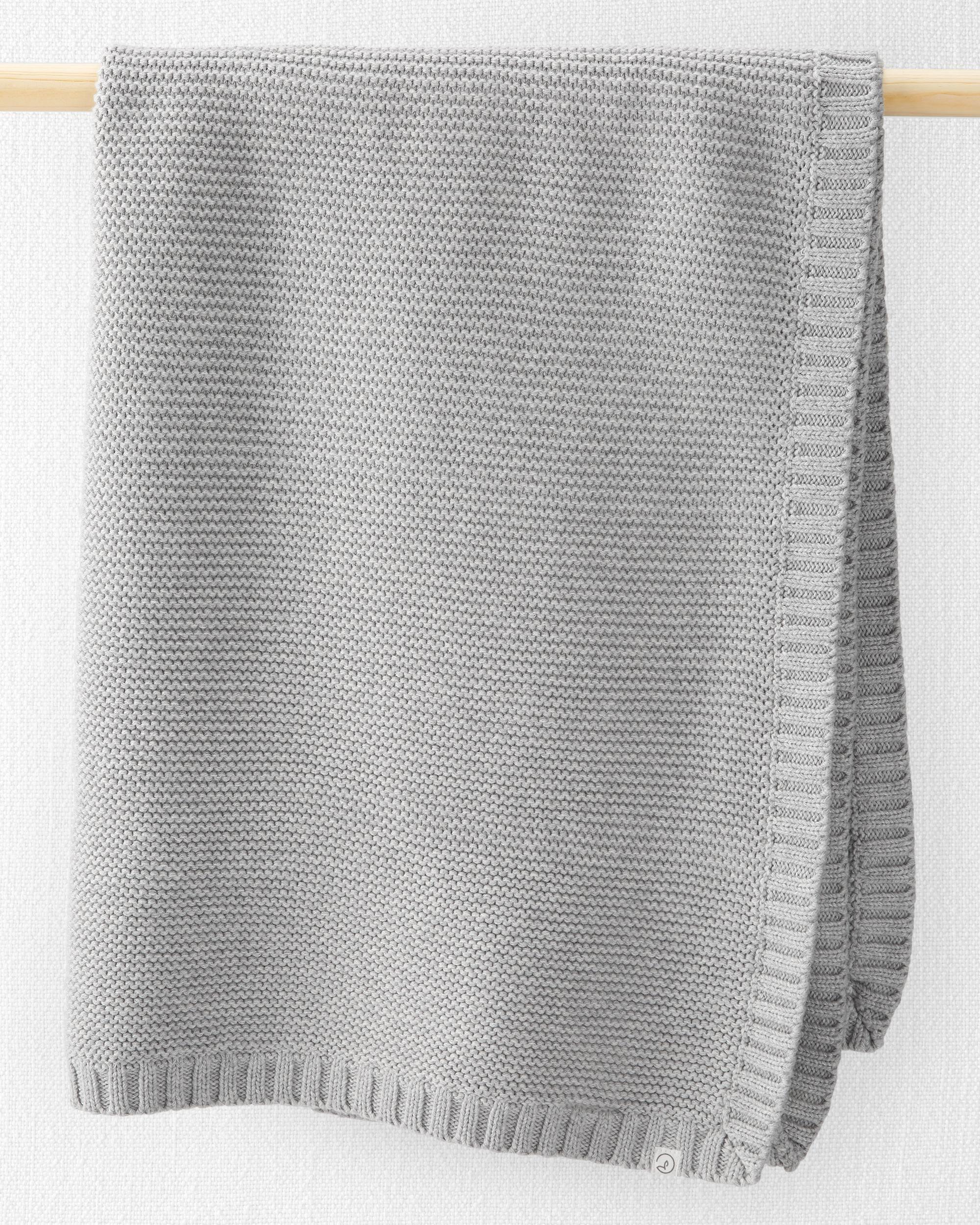 Oshkoshbgosh Organic Cotton Seed Stitch Blanket