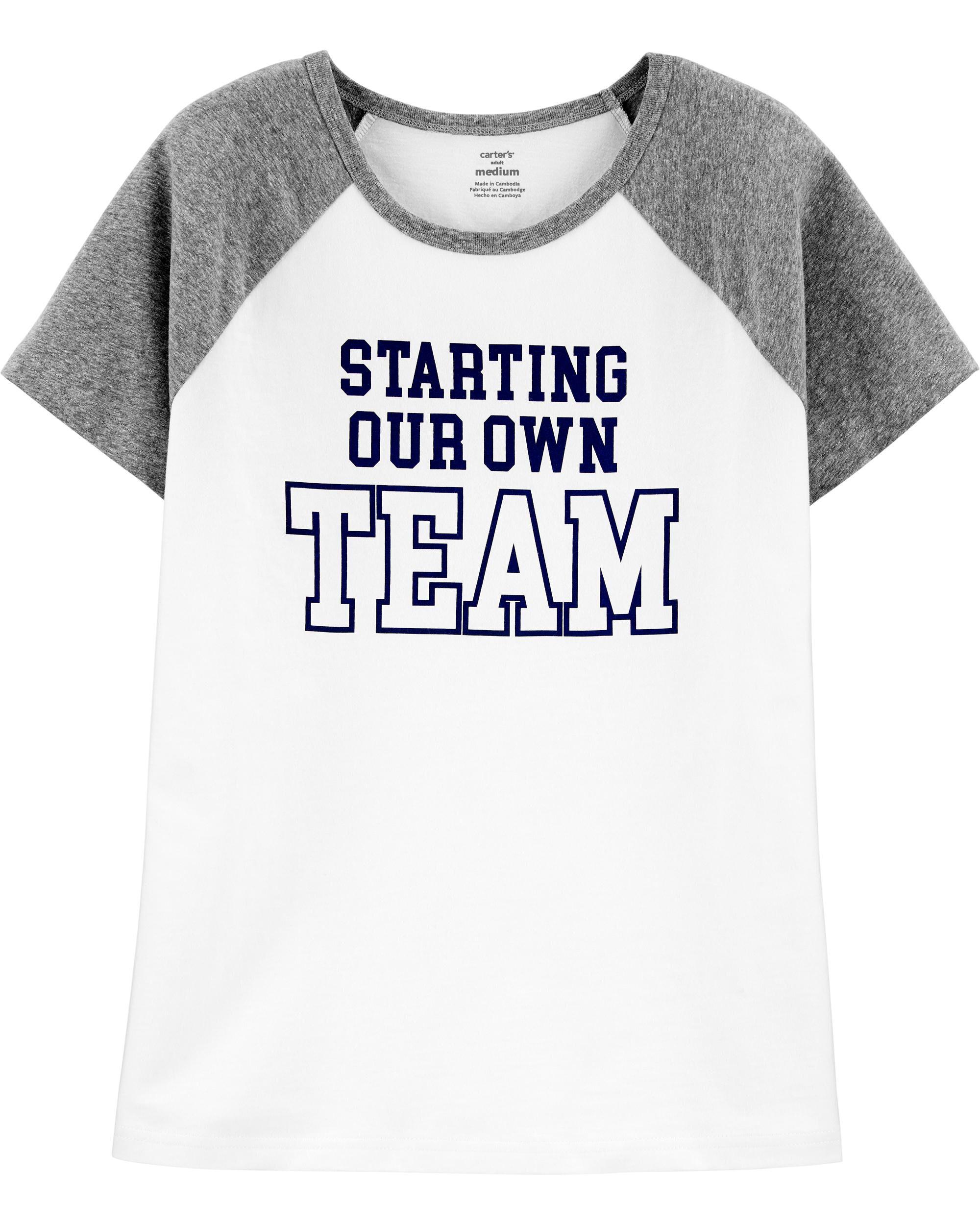 Oshkoshbgosh Adult Womens Starting Our Own Team Tee