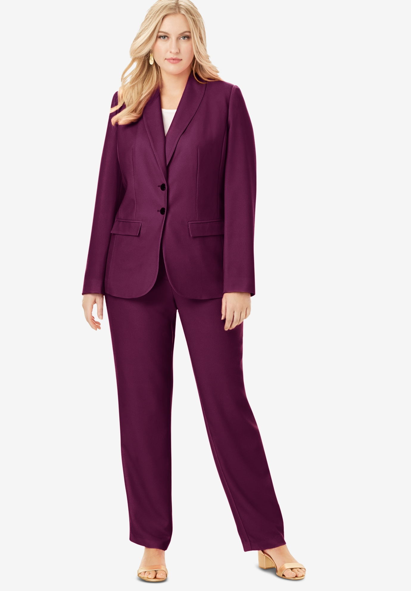 Single Breasted Pant Suit