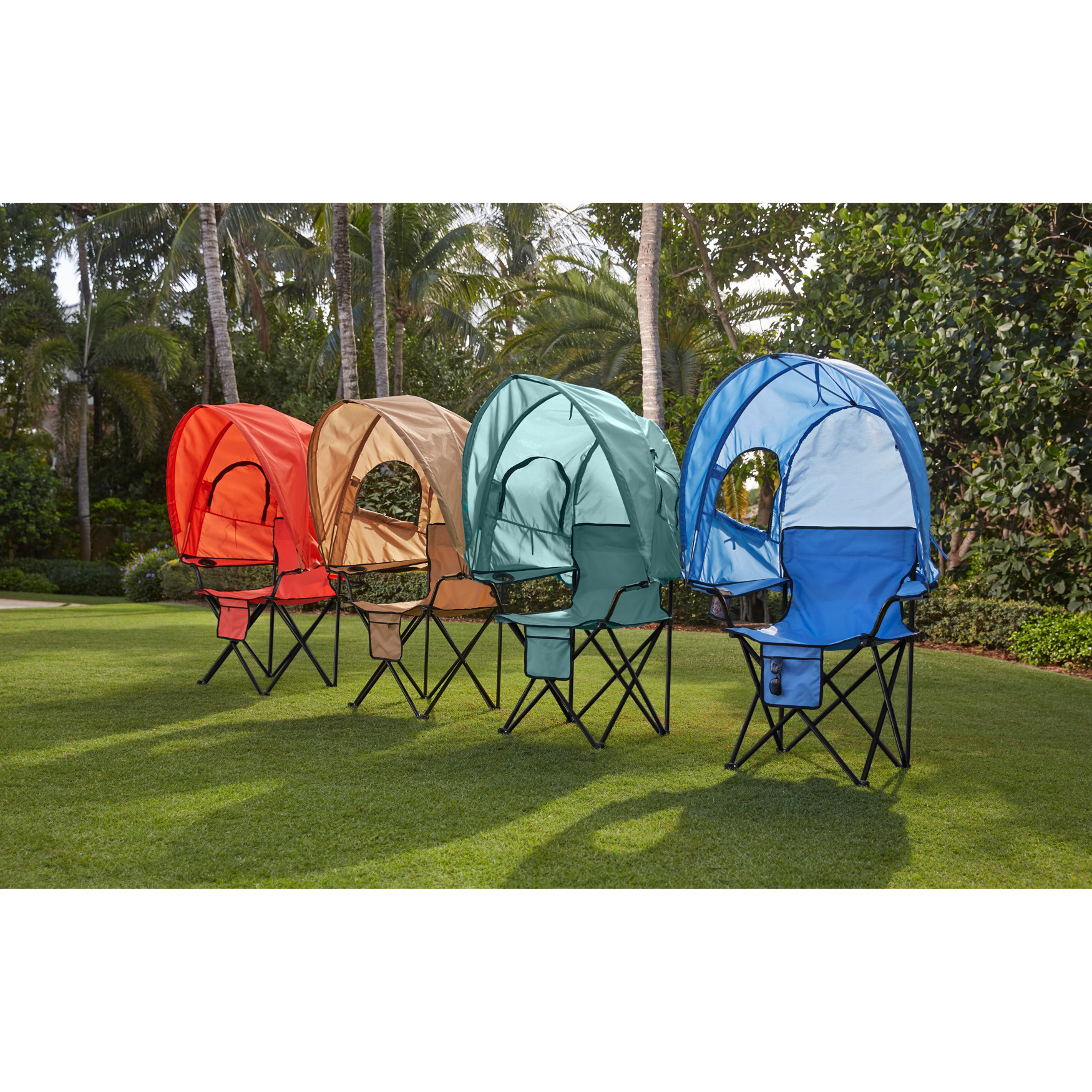 BrylaneHome Camp Chair with Canopy (4 color options)