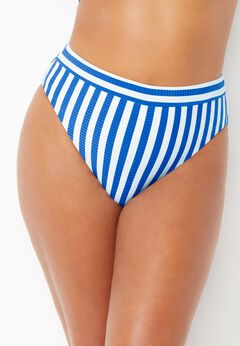 Maestro Ribbed High Waist Bikini Bottom available from SwimsuitsForAll, Click for more Details