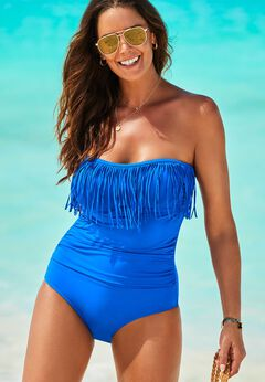 Fringe Bandeau One Piece Swimsuit