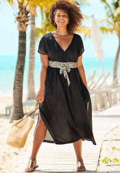 Stephanie V-Neck Cover Up Maxi Dress