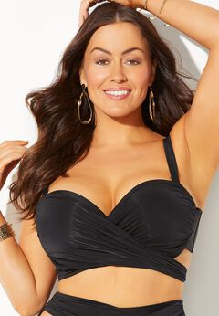 GabiFresh Cup Sized Wrap Underwire Bikini Top