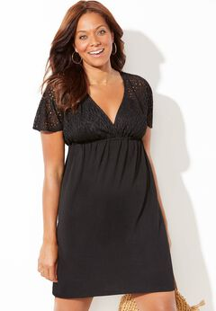 Roxie V-Neck Crochet Dress Cover Up