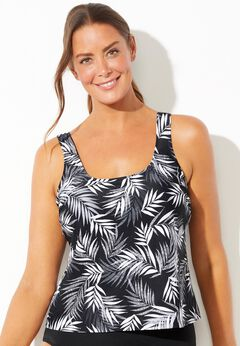Chlorine Resistant Classic Tankini Top available from SwimsuitsForAll, Click for more Details