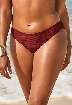 GabiFresh Knit Mesh Overlay Bikini Bottom