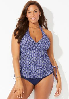 Adrift Underwire Adjustable Tankini Set available from SwimsuitsForAll, Click for more Details