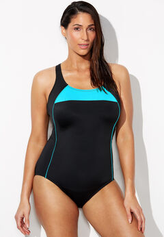 Lycra Xtra Life Border Crossback One Piece Swimsuit