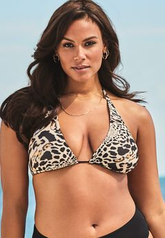 Ashley Graham Fearless Bikini Top available from SwimsuitsForAll, Click here to visit their site.