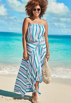 Riley Bandeau Cover Up Dress available from SwimsuitsForAll, Click for more Details