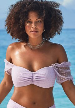 GabiFresh Cup Sized Off The Shoulder Bikini Top available from SwimsuitsForAll, Click for more Details